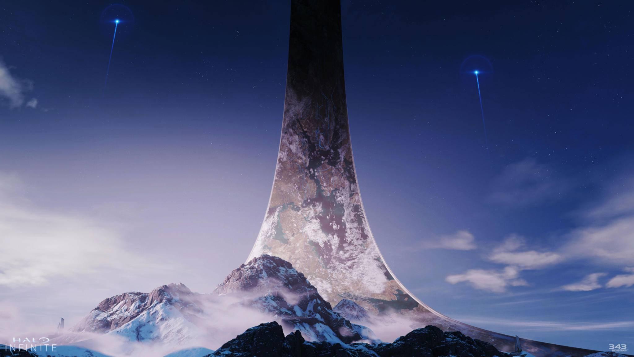 """So viel scheint klar: In """"Halo Infinite"""" besuchen wir einen der Halo-Ringe."""