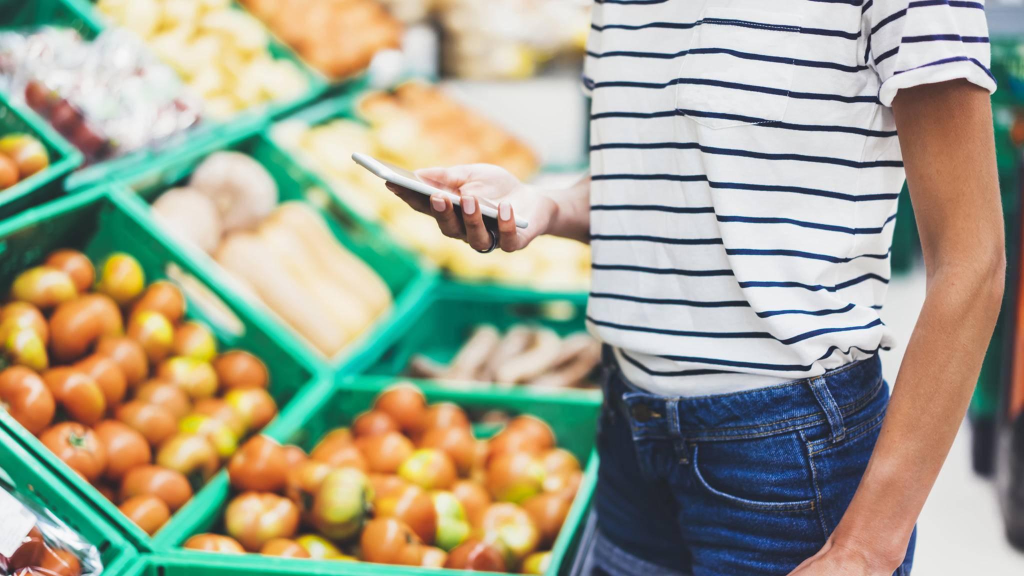 Allergie-Apps können auch beim Einkauf ziemlich hilfreich sein.