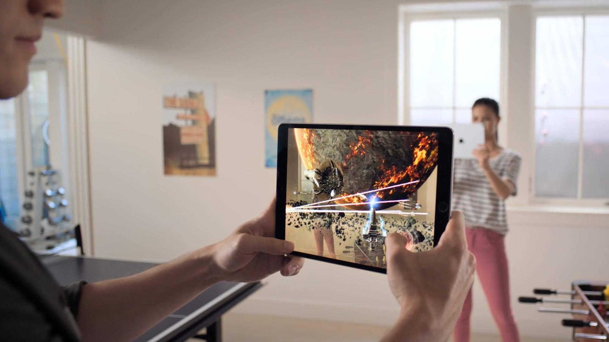 Dank ARKit 2 können mehrere Spieler ein Game in derselben AR-Welt zocken.