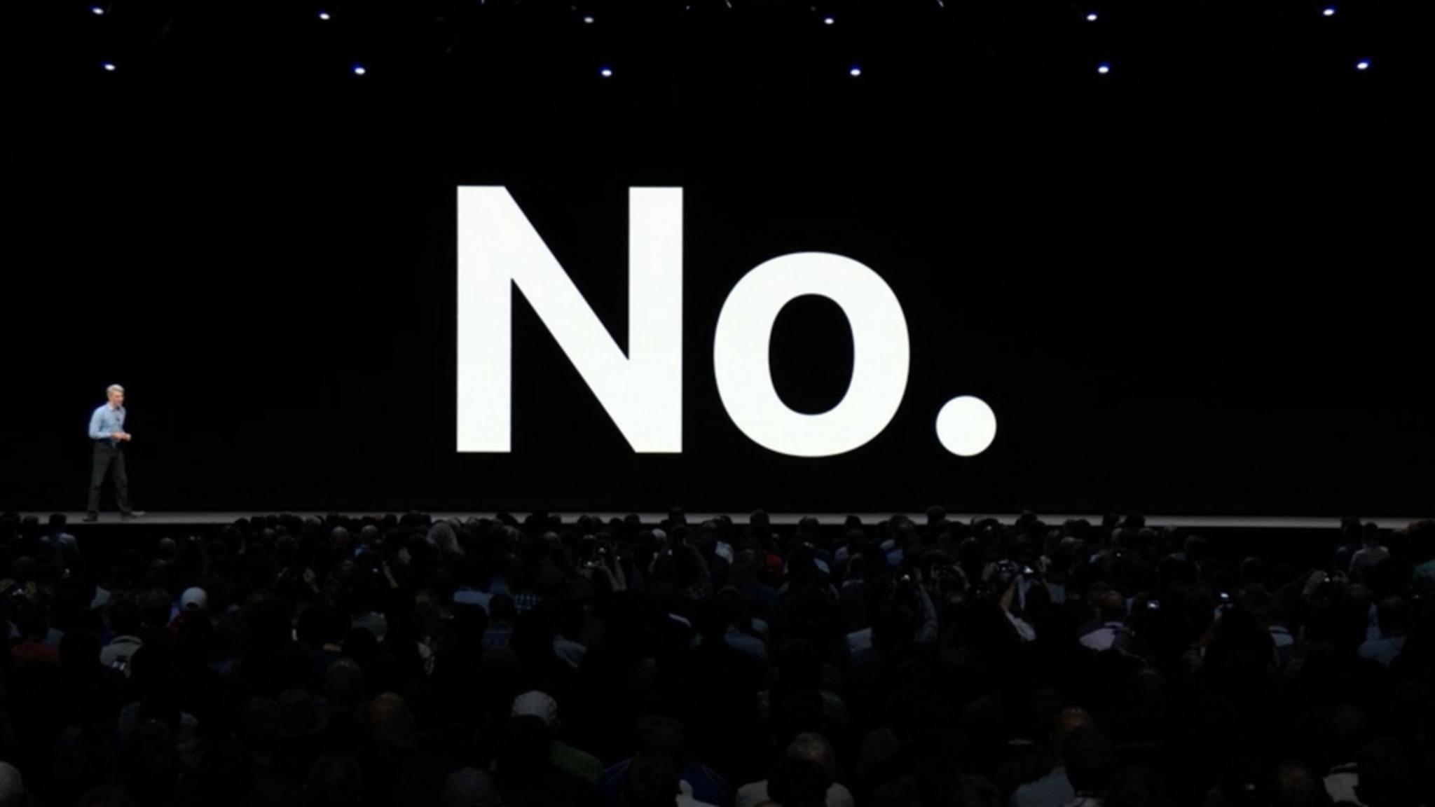 Ein klares Statement von Apple - oder etwa doch nicht?