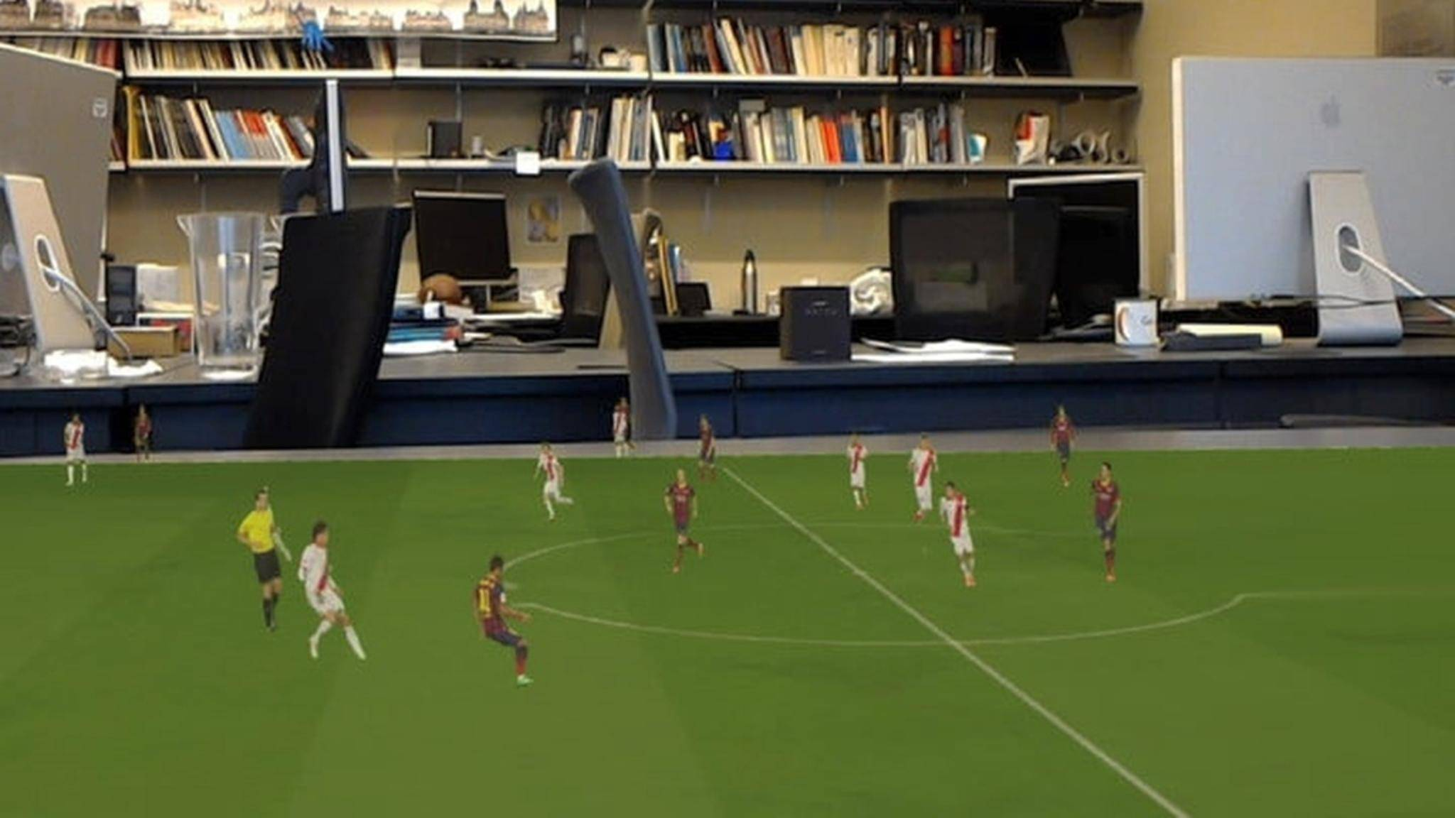 Forscher arbeiten an einem Augmented-Reality-Erlebnis der Fußball-Weltmeisterschaft.