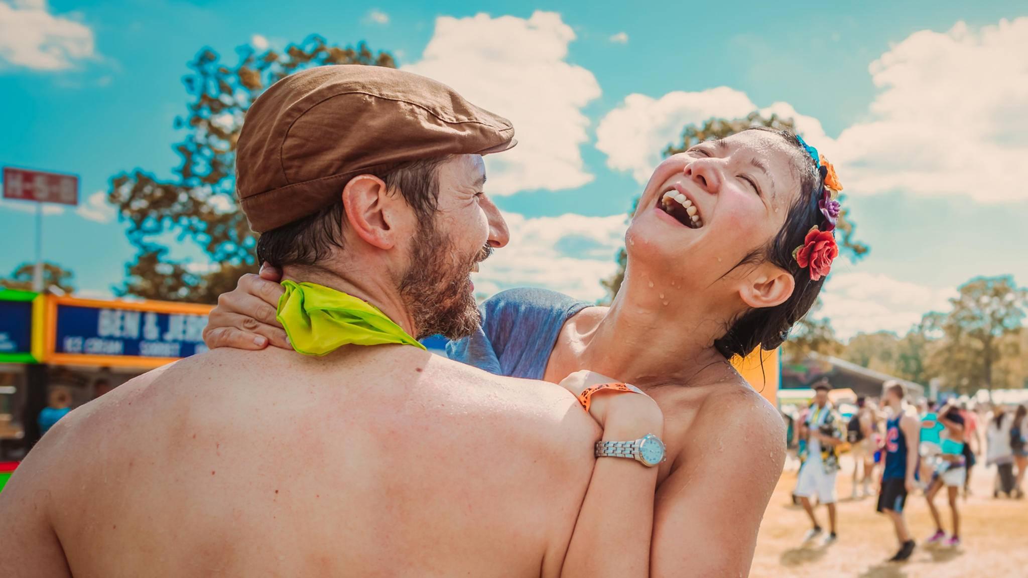 Auf dem Bonnaroo Festival können Besucher ihre Kleidung reinigen lassen.