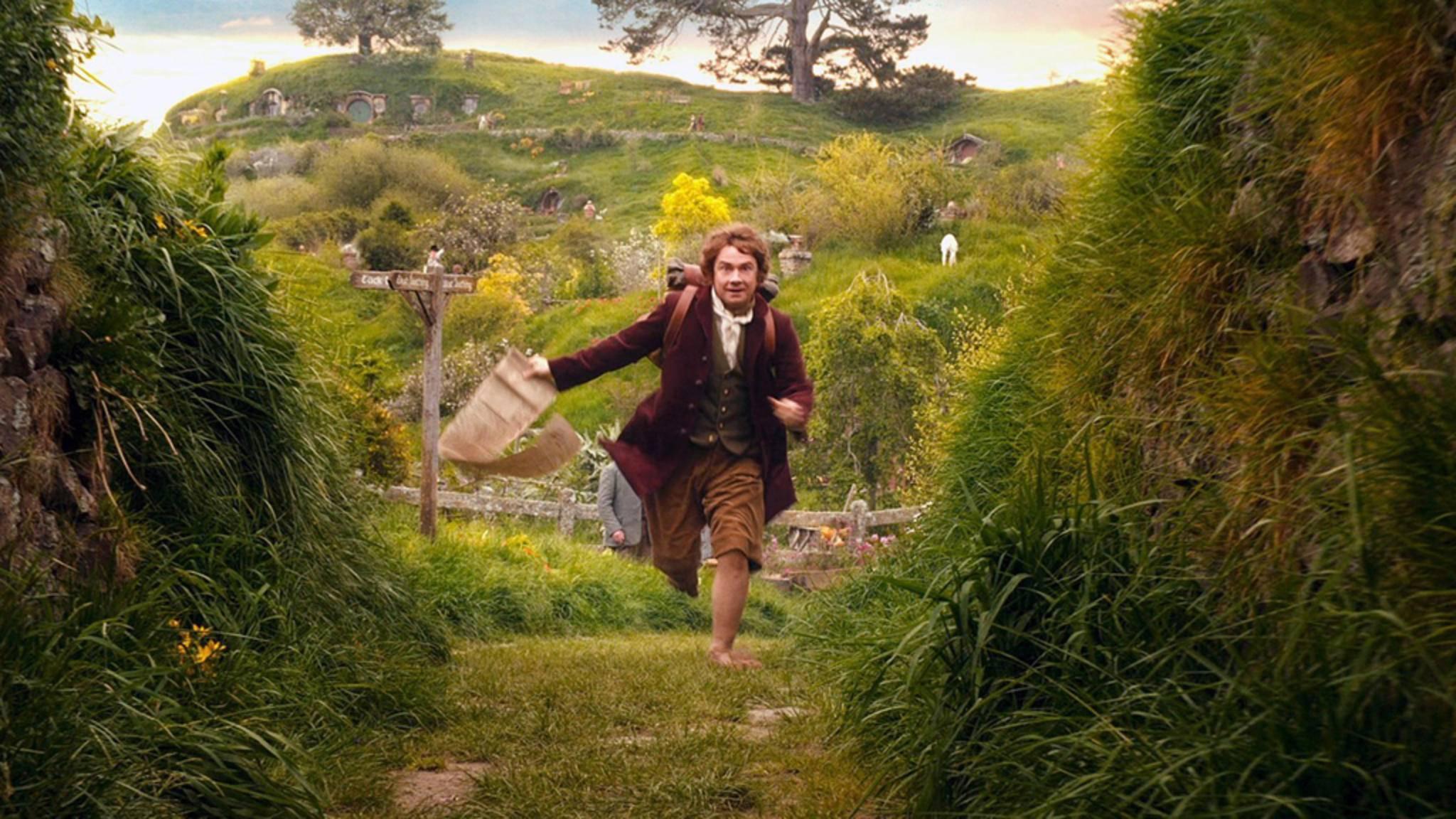 Auf in ein neues Abenteuer! Bilbo Beutlin (Martin Freeman) packt die Wanderlust.