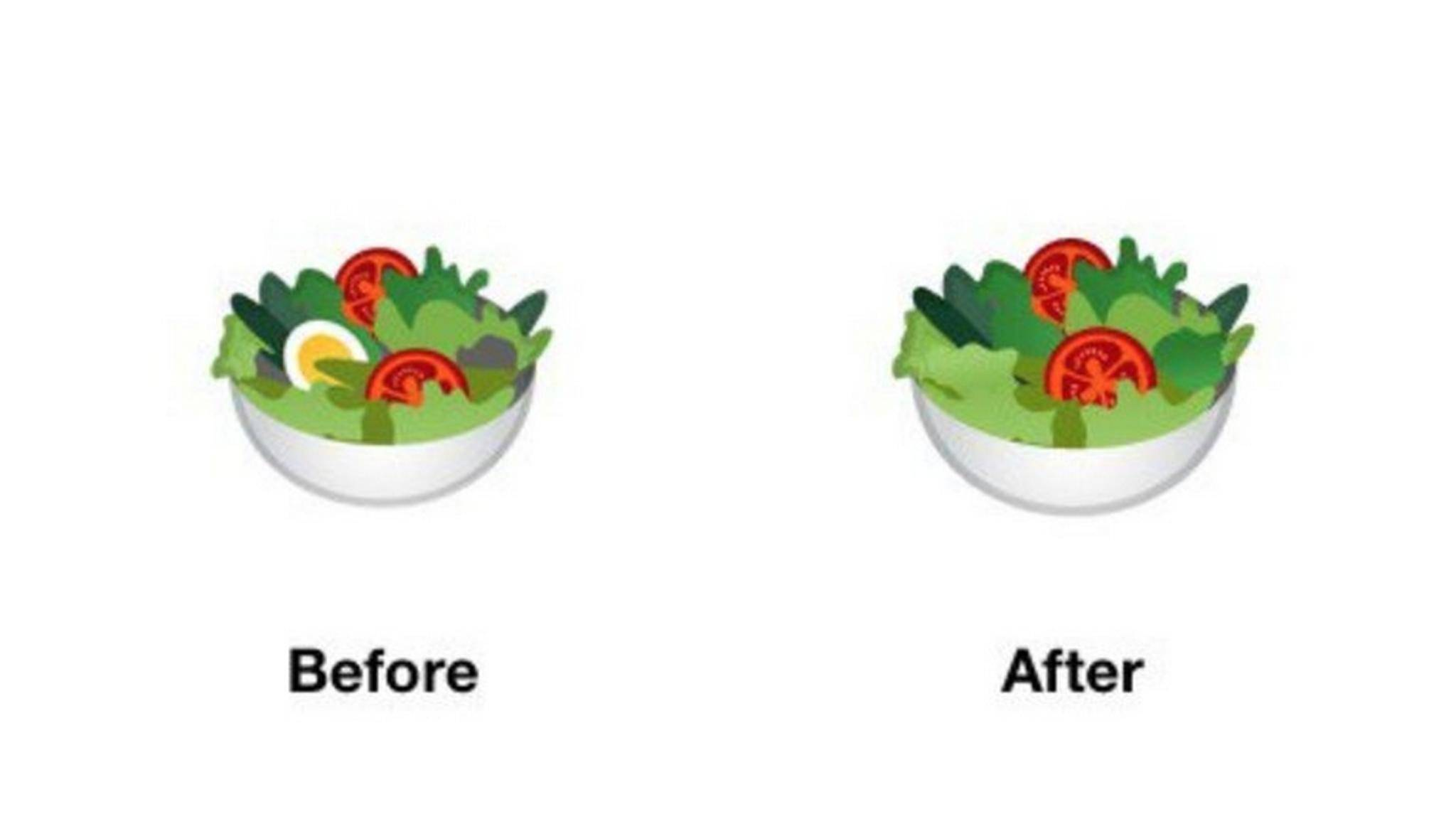 Google macht seinen Salat neuerdings ohne Ei.