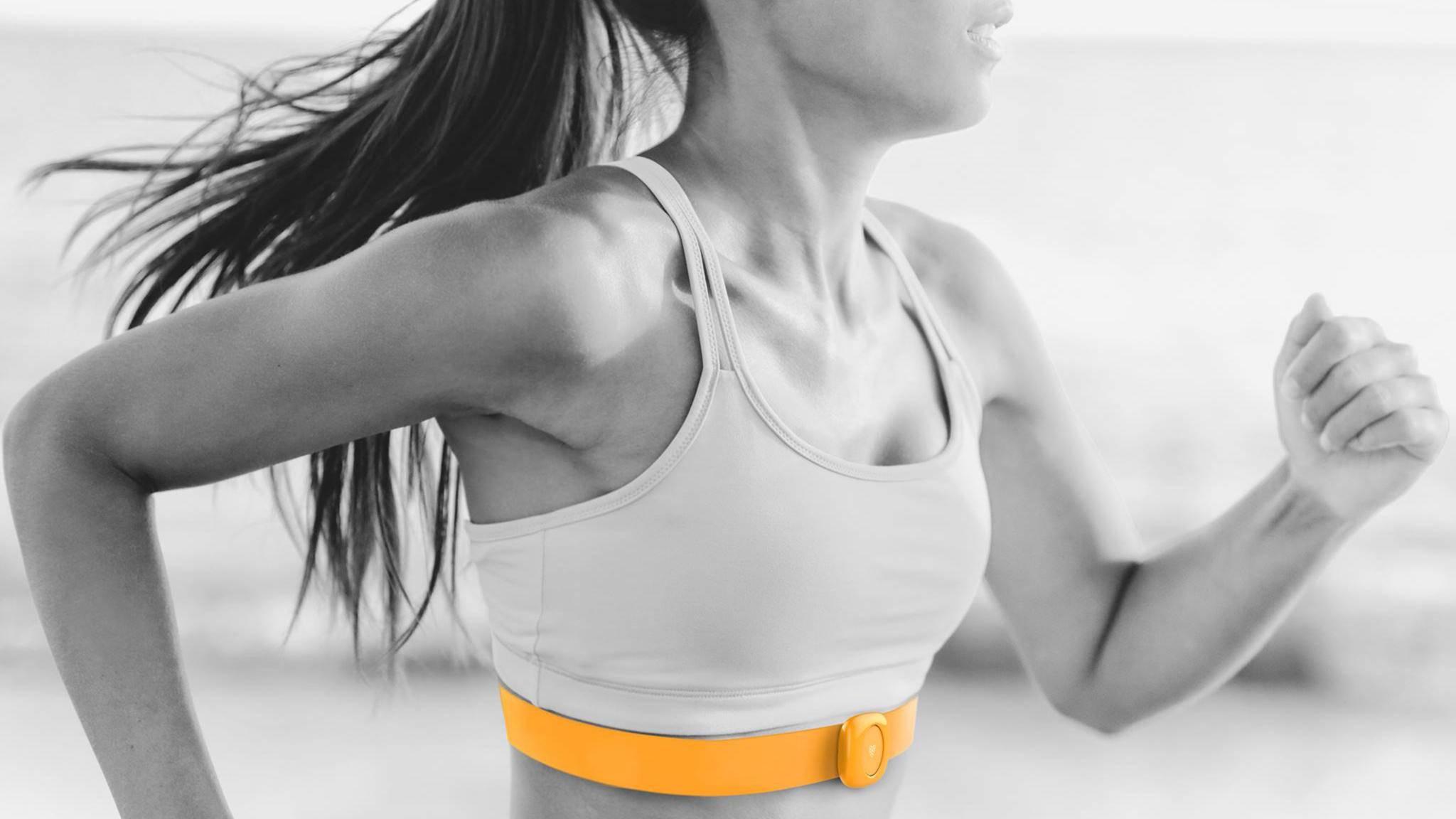 Bei Heartbit soll der Brustgurt in die Kleidung integriert werden.