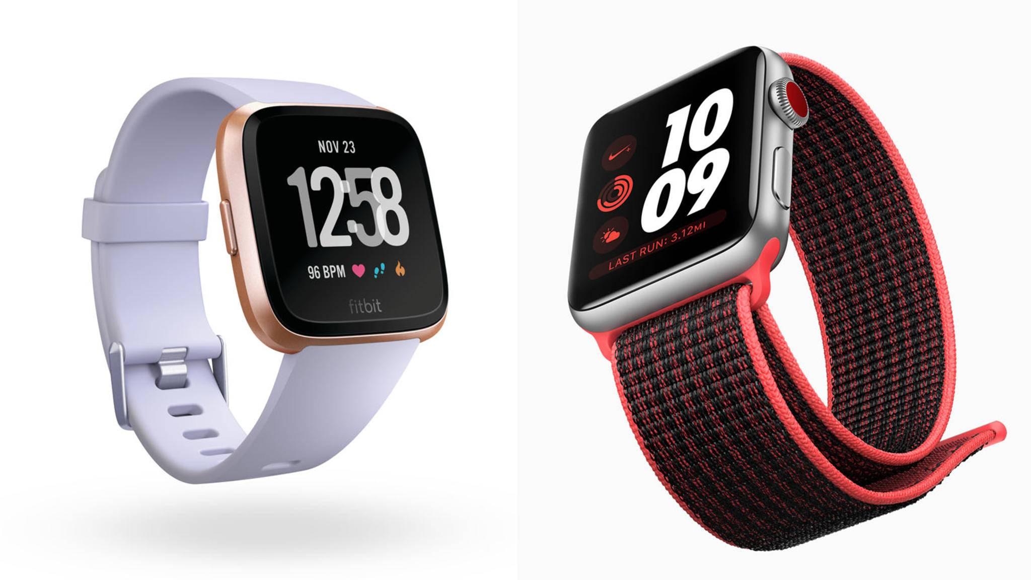 Was genau unterscheidet eigentlich die Fitbit Versa von der Apple Watch 3?