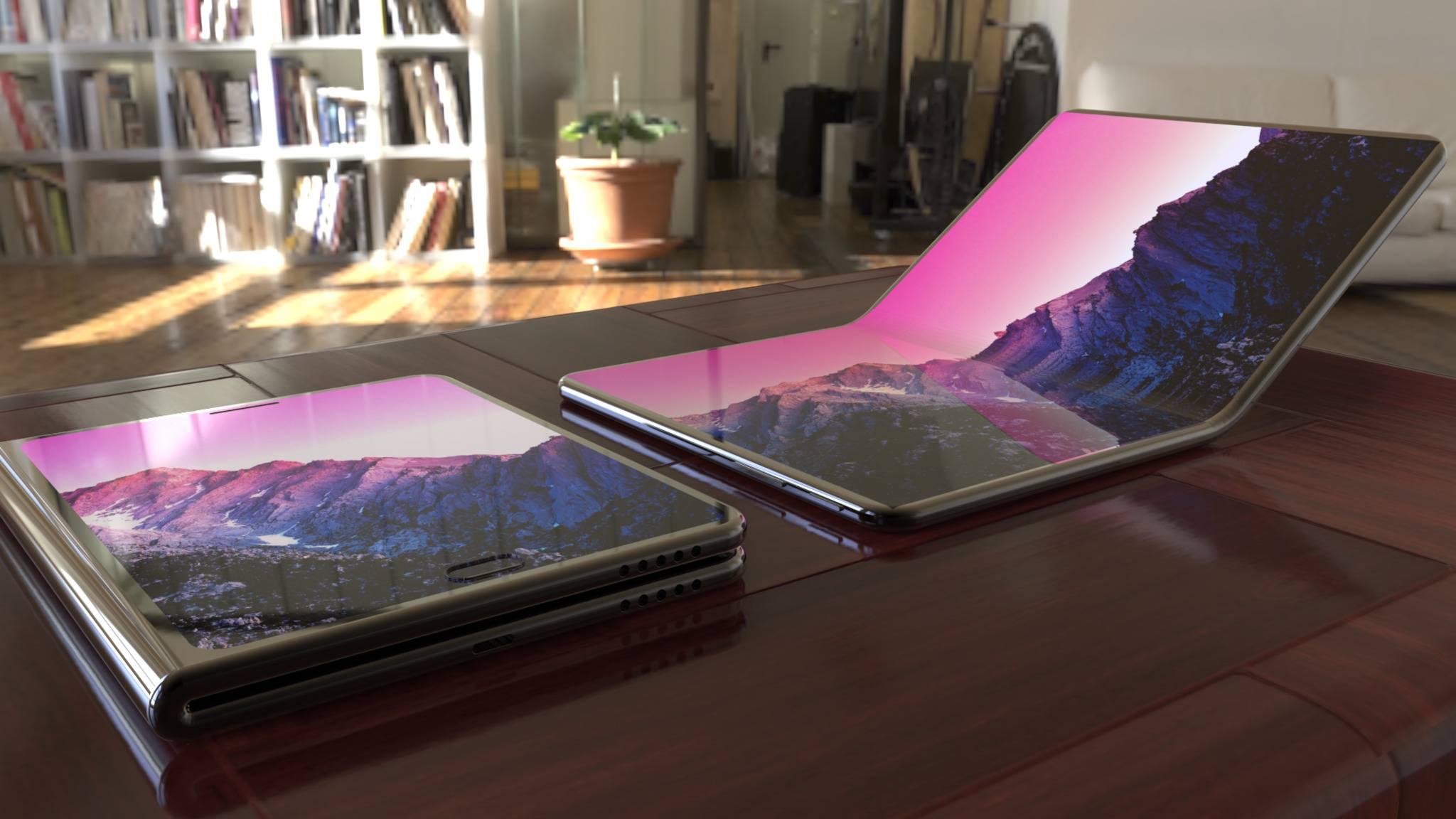 Faltbare Smartphones (hier ein Konzeptbild) könnten als Tablet-Ersatz dienen.