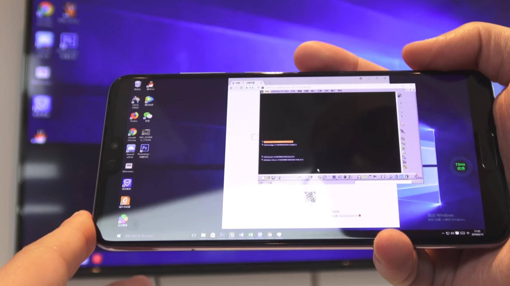 Dank Cloud läuft Windows 10 auf bestimmten Huawei-Handys.