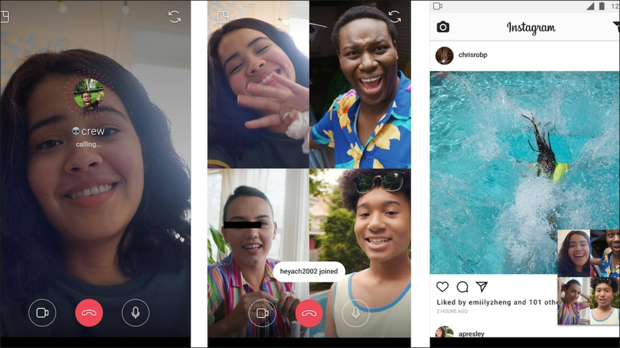 Instagram führt nun einen Gruppen-Videochat ein.