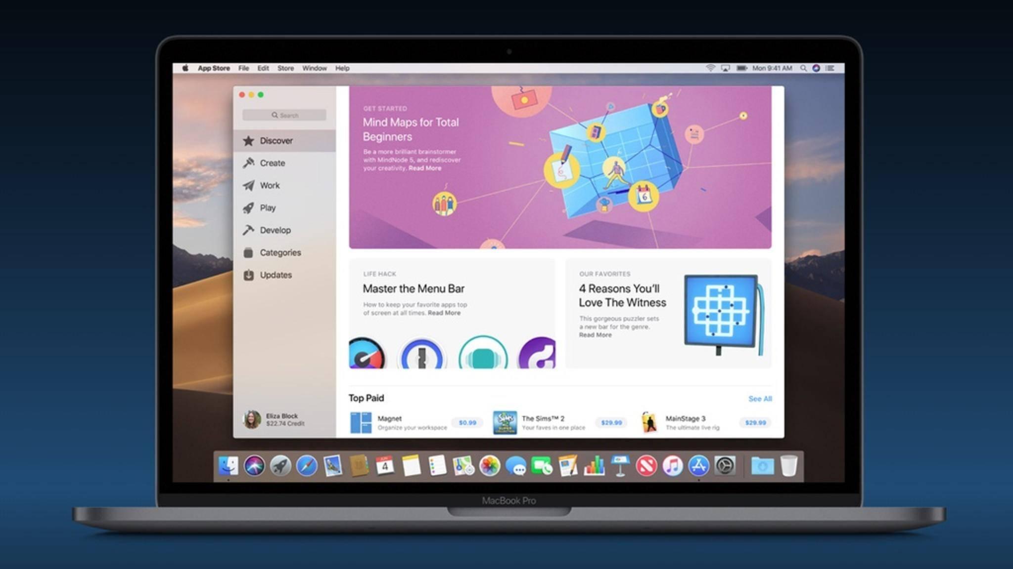 Der App Store wird um neue Features erweitert.