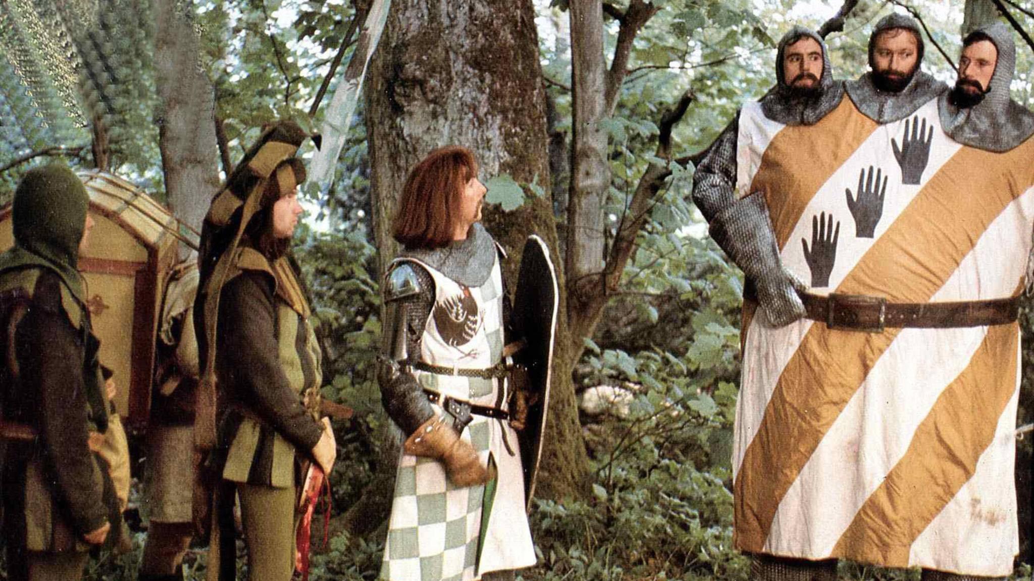 Seltsame Gestalten wie dreiköpfige Ritter gehören auch zu Monty Pythons Filmwelt.