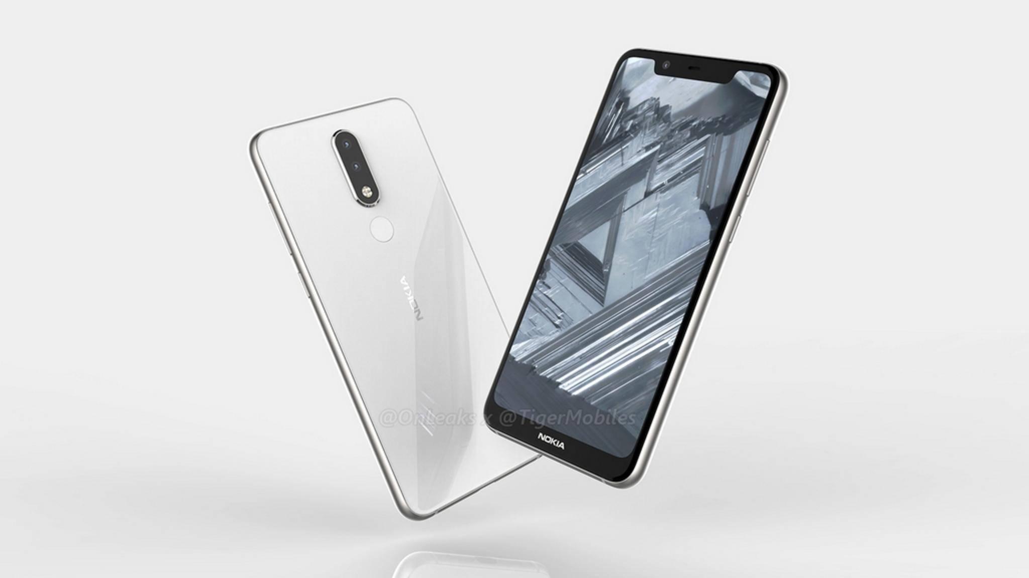 Das Nokia 5.1 Plus soll ein günstiges Smartphone mit modernem Look werden.