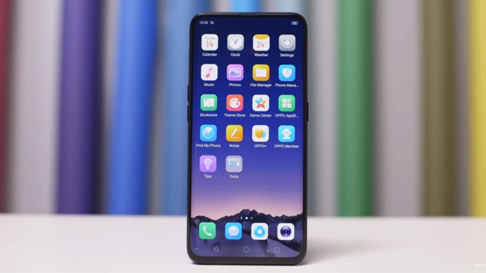 Das ist es: Das bislang randloseste Smartphone, das Oppo Find X.