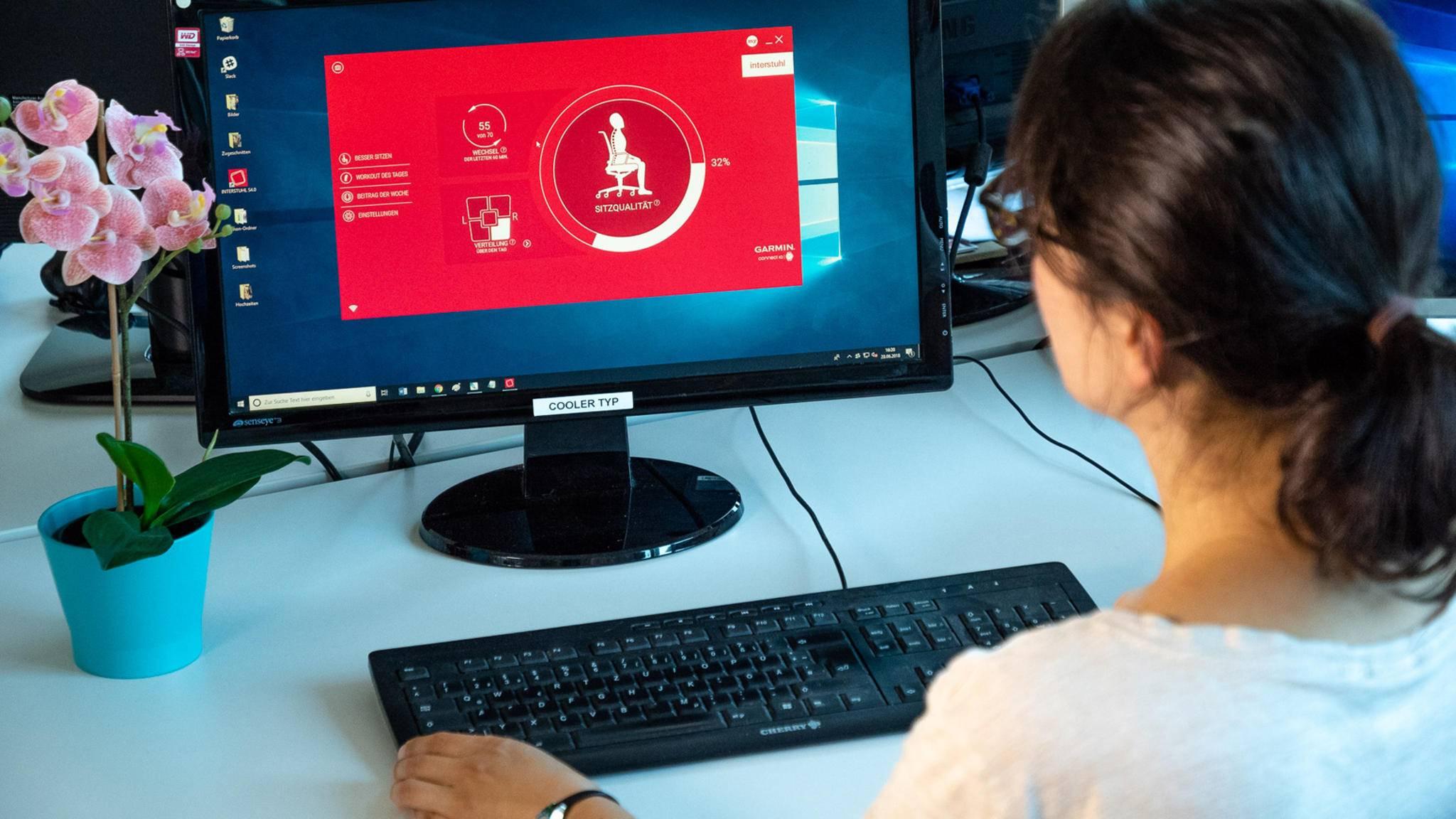 Der Sitzsensor Active Sitting Solution S 4.0 gibt in Echtzeit Feedback zur Sitzqualität.