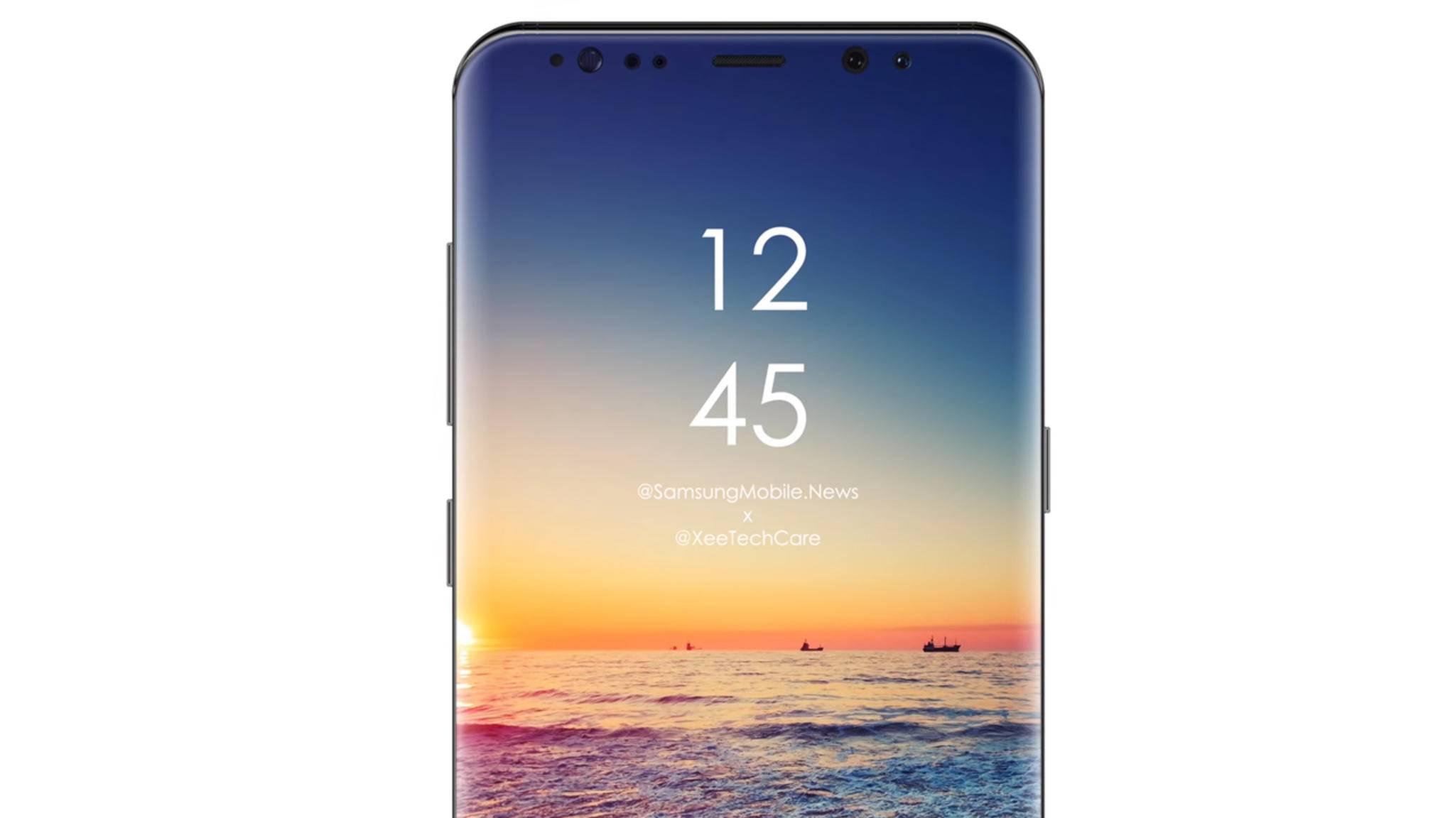 Wird das Galaxy S10 (Konzeptbild) noch weniger Displayrand als der Vorgänger haben?