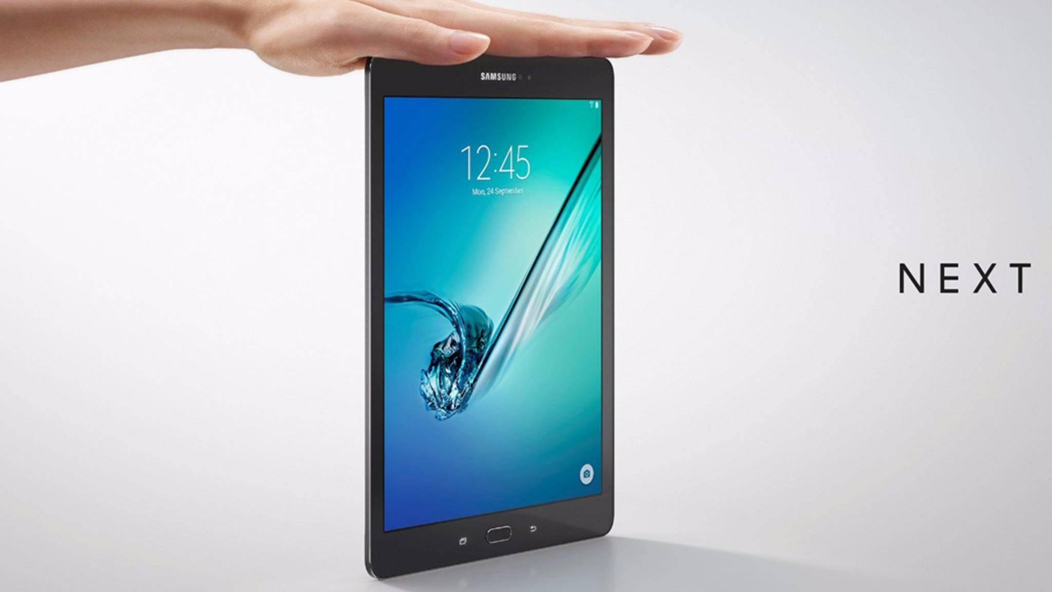 Gehört zu einer bedrohten Art: das Samsung Galaxy Tab S2.