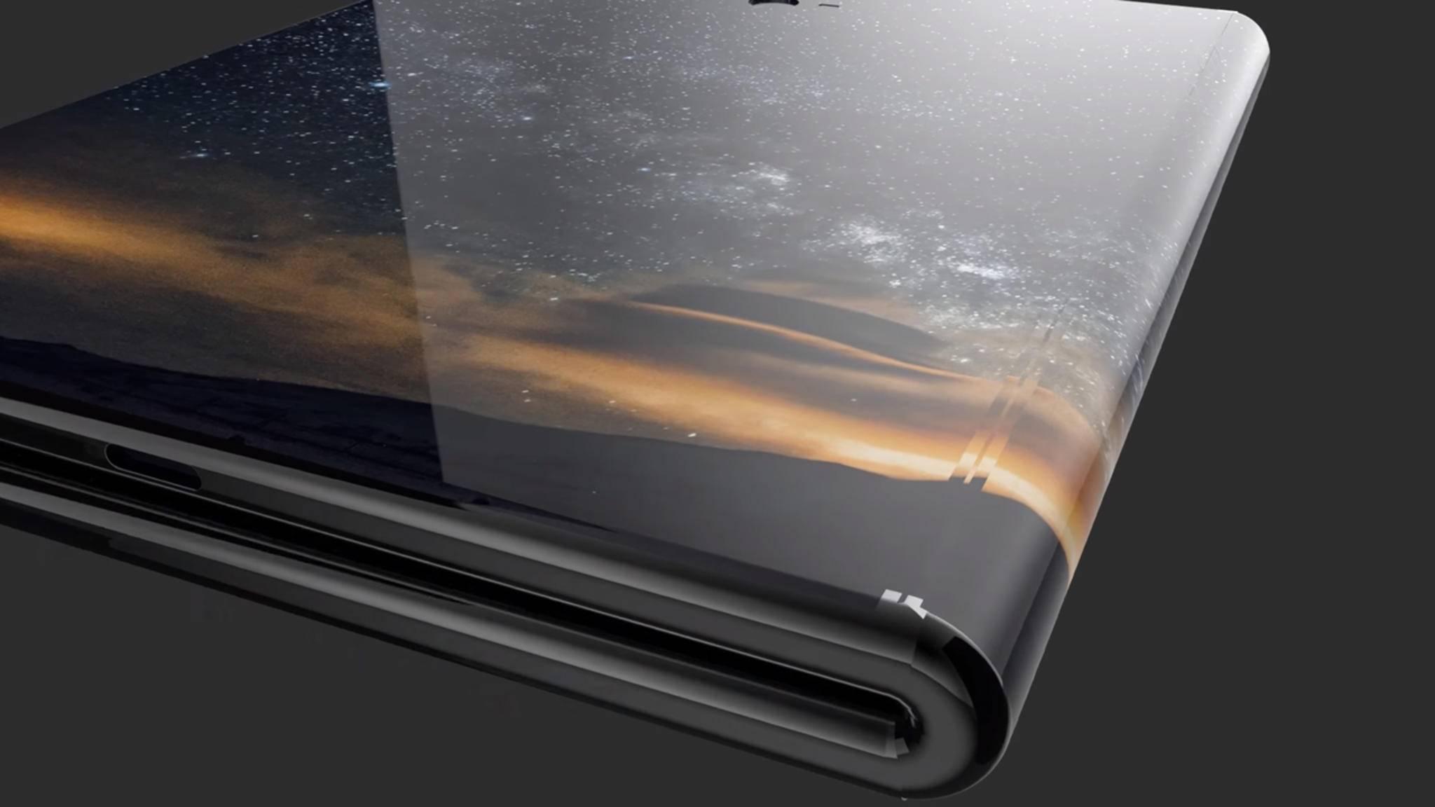 Das Samsung Galaxy X (Konzeptbild) soll eines der ersten faltbaren Smartphones werden.