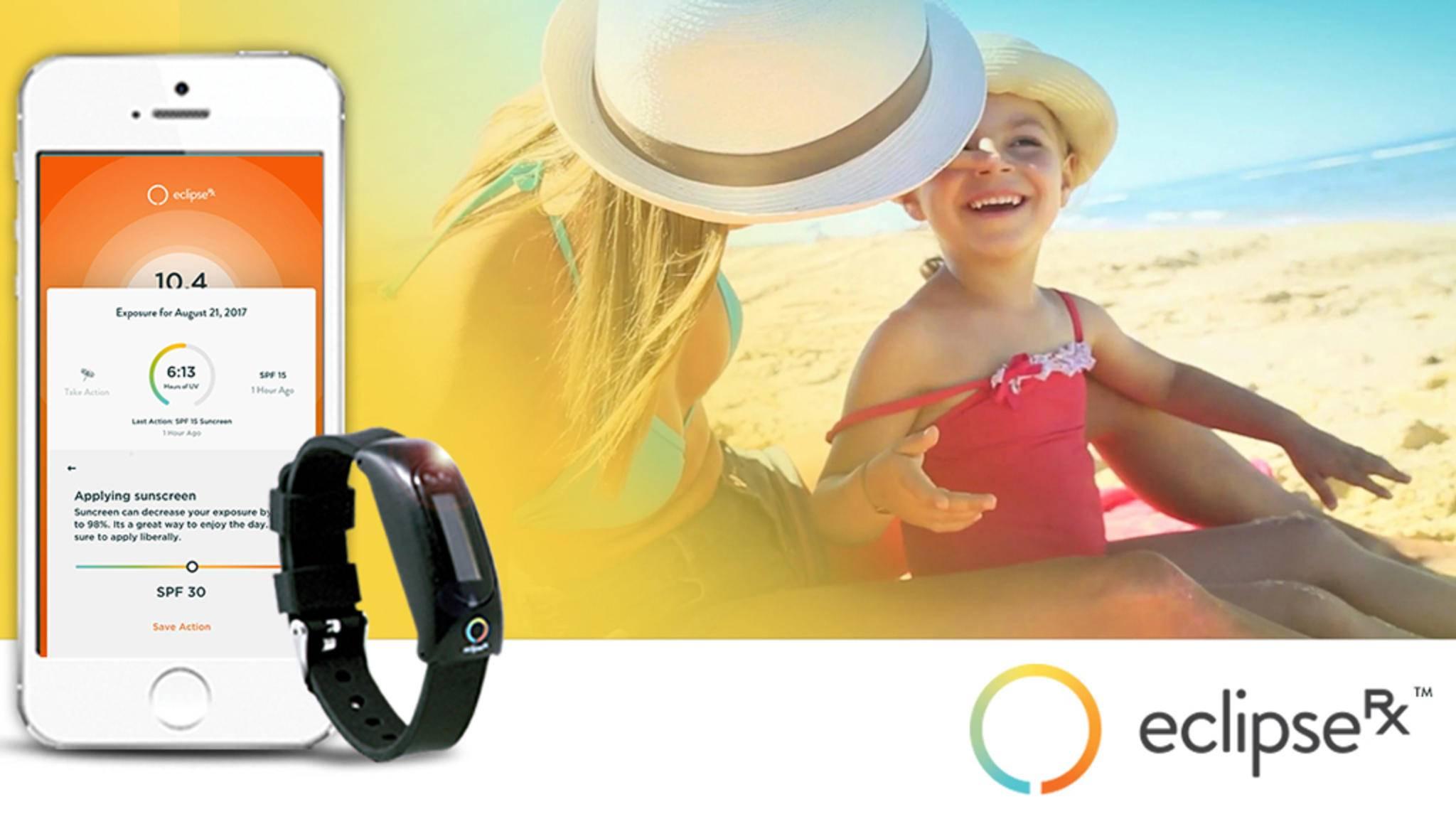 Das Wearable Eclipse RX unterstützt den User bei der Sonnenbrand-Prophylaxe.