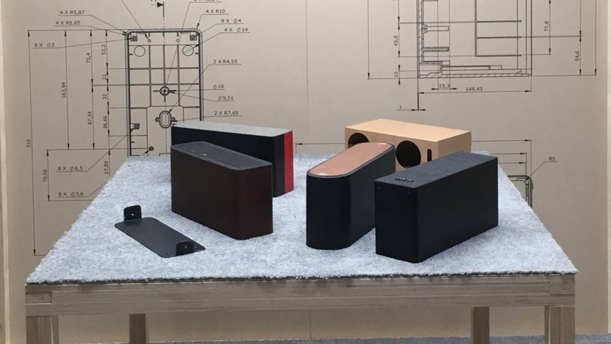 So sehen die ersten Designstudien des Smart Speakers von Ikea und Sonos aus.