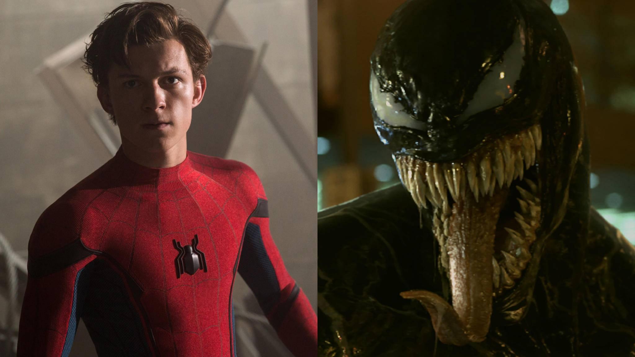 """""""Spider-Man"""" Tom Holland hätte nichts gegen ein Aufeinandertreffen mit Tom Hardys Venom."""