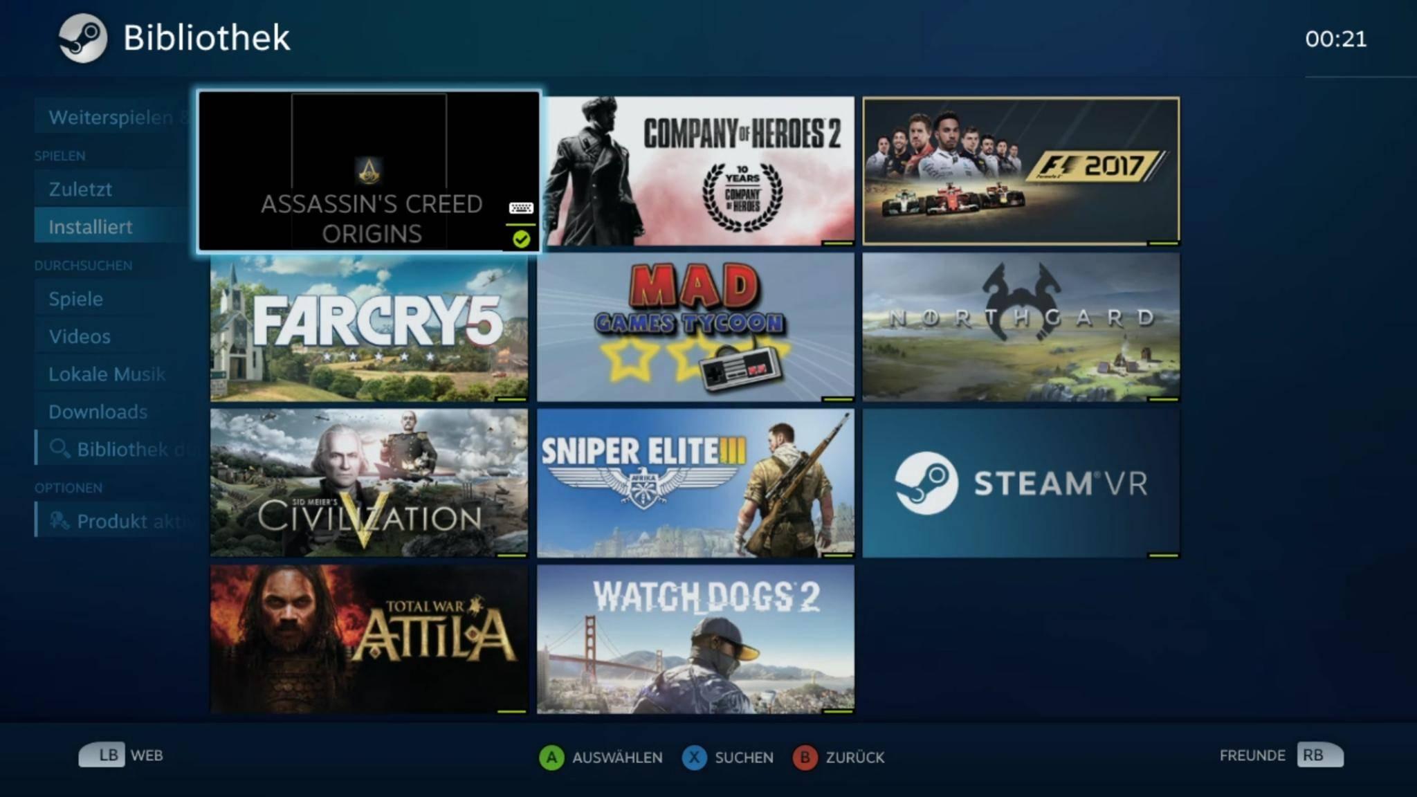 Die gesamte Steam-Bibliothek lässt sich vom PC auf das Smartphone oder Tablet streamen.