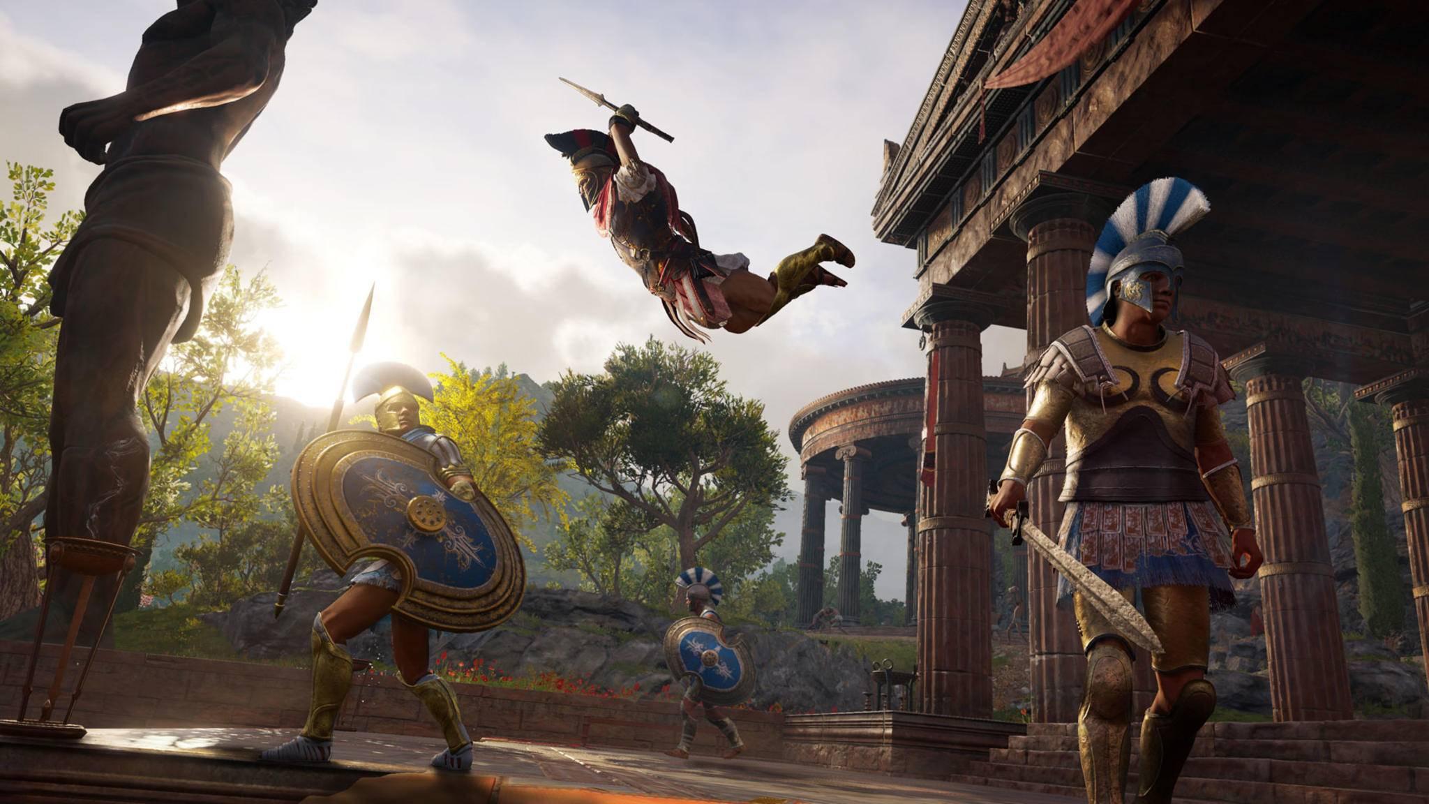 """Mehr als 30 Stunden Zwischensequenzen soll """"Assassin's Creed Odyssey"""" haben – da kann Dir Sokrates die eine oder andere Geschichte erzählen."""