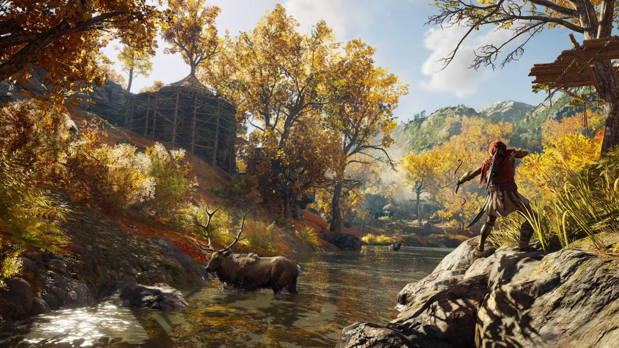 """Blühende Wälder sind nur einer von vielen Landschaftstypen in """"Assassin's Creed: Odyssey""""."""