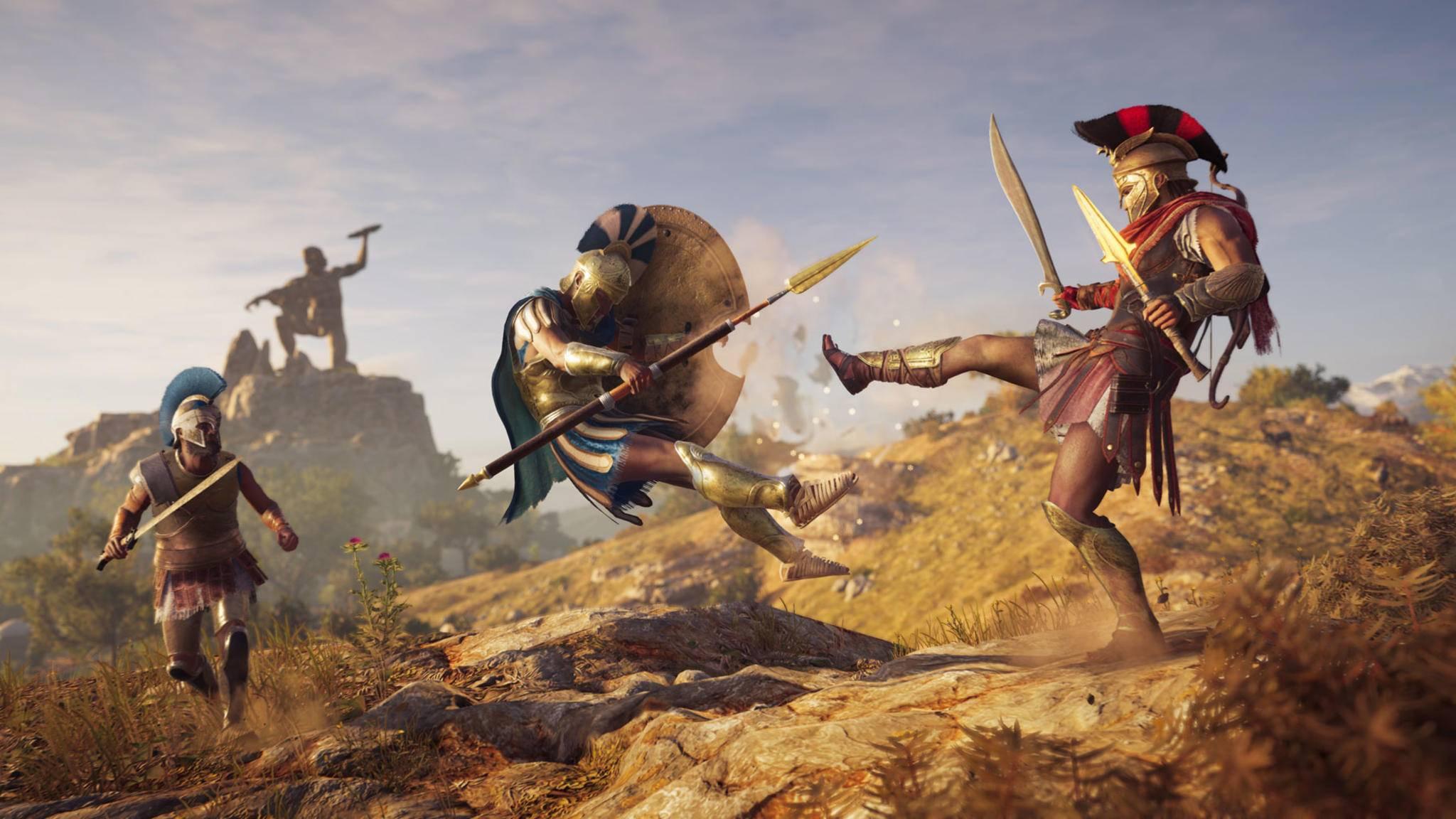 """Nicht jedes Easter Egg in """"Assassin's Creed Odyssey"""" ist so offensichtlich wie dieser berühmte Kampftrick der Spartaner ..."""