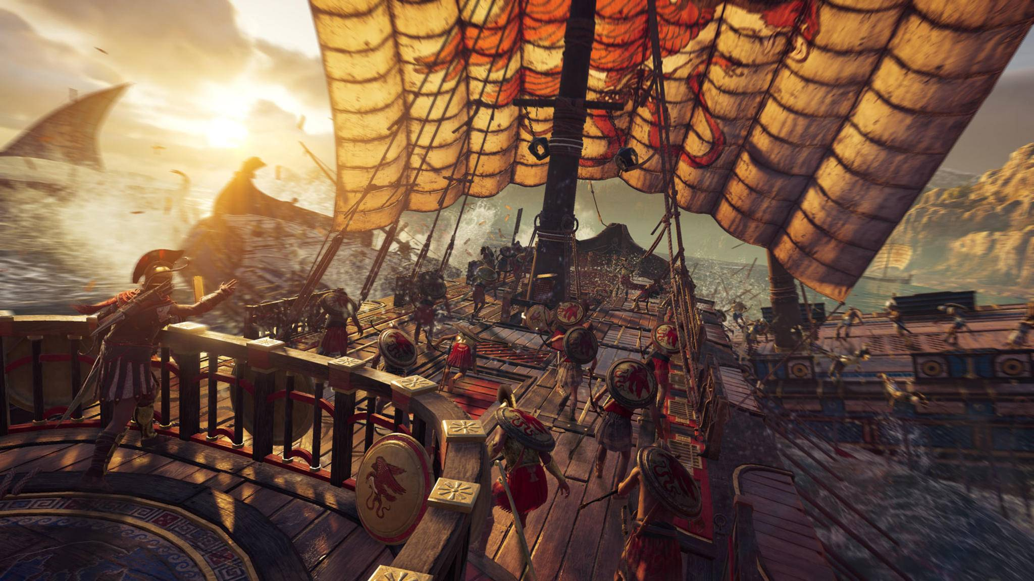 """Schiffskämpfe stehen in """"Assassin's Creed: Odyssey"""" nicht wie in """"Black Flag"""" im Zentrum."""