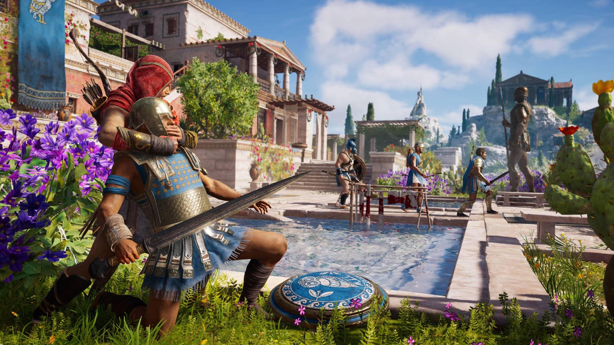 """Je mehr Du in """"Assassin's Creed Odyssey"""" meuchelst, desto mehr Söldner wollen Deinen Kopf."""