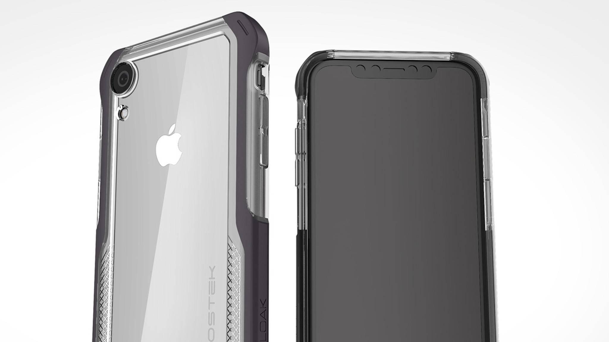 Dieses Bild zeigt angeblich das relativ günstige LCD-iPhone für 2018 in einer Hülle.