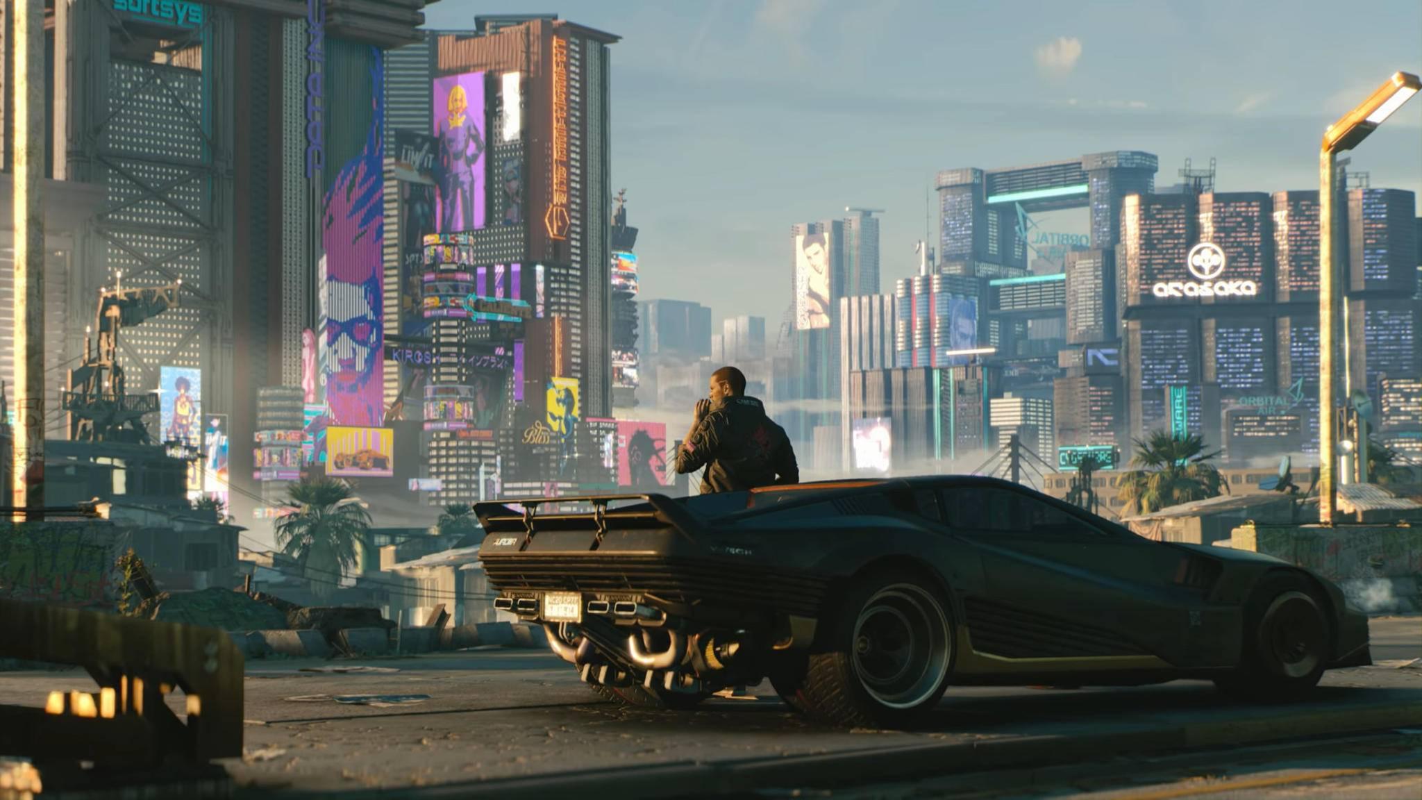 """""""Cyberpunk 2077"""" ist noch nicht so fertig wie es dieser Screenshot vermuten lässt."""