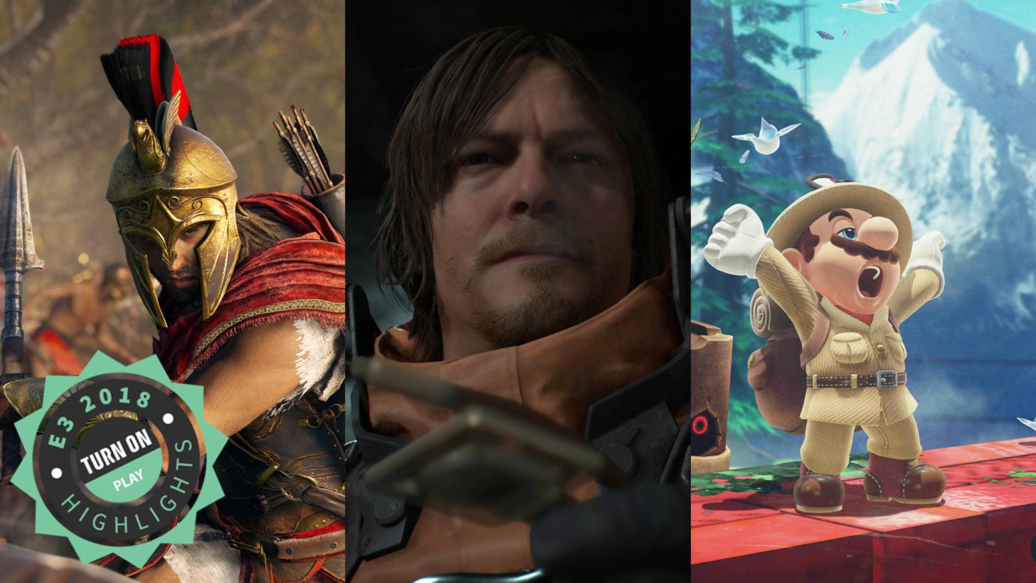 """Die E3 2018 im Rückspiegel: """"Assassin's Creed"""" und """"Death Stranding"""" fanden wir super, die Nintendo-Präsentation eher ein bisschen zum Gähnen."""