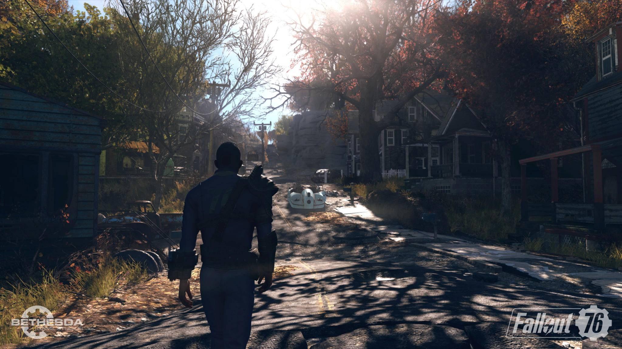 """Trotz der Ankündigung, dass Du in """"Fallout 76"""" auf menschliche Mitspieler stoßen kannst, wird sich das Spiel wahrscheinlich oft nicht nach Multiplayer anfühlen."""