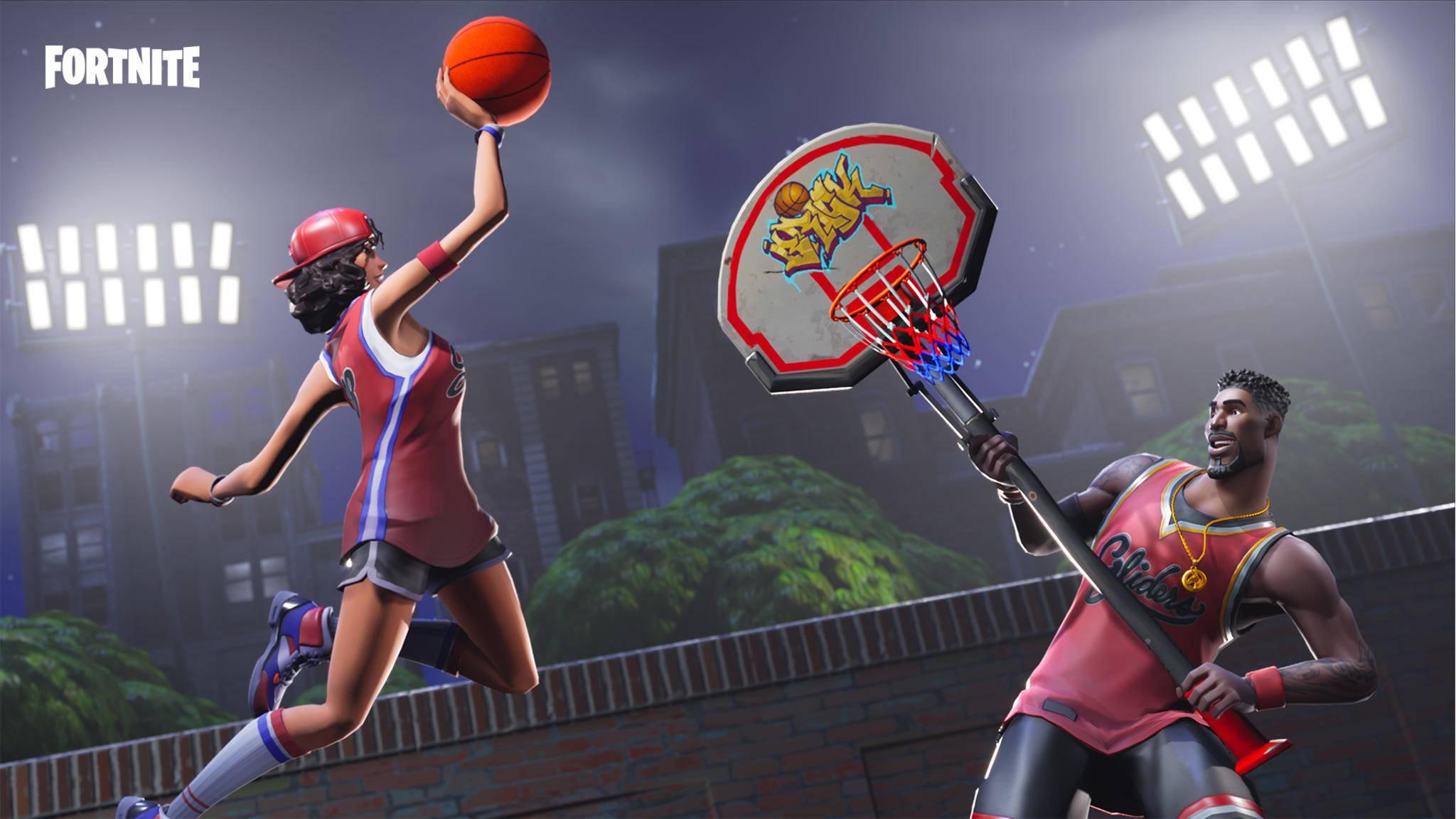 """Basketball kannst Du auf der """"Fortnite""""-Spielwiese nicht spielen, aber Spaß verspricht der neue Modus trotzdem."""