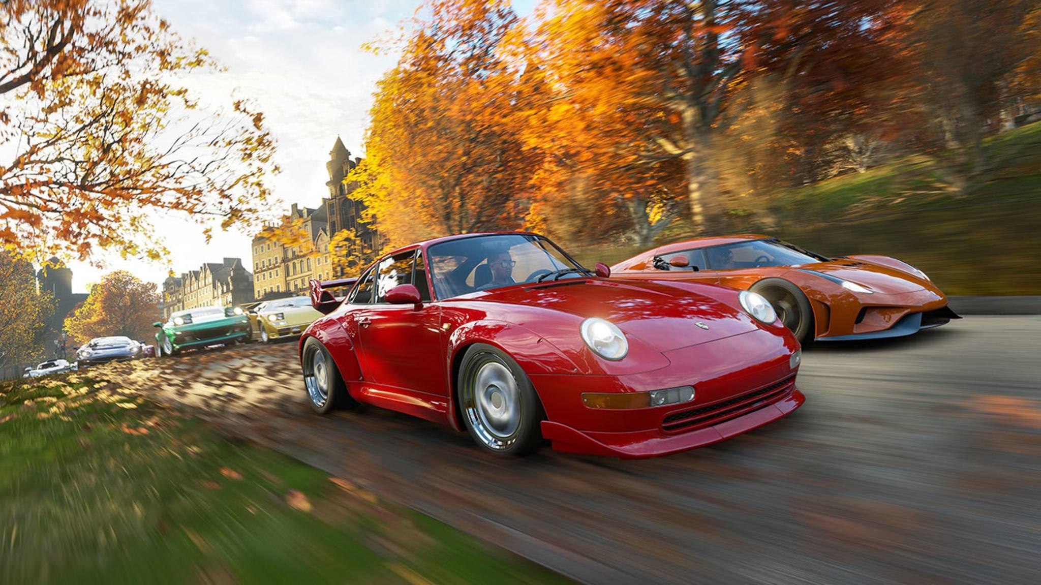 """Schnell reisen in """"Forza Horizon 4"""" ist mit dem richtigen Sportwagen einfach. Schnellreisen auch – dank unserer Tipps."""