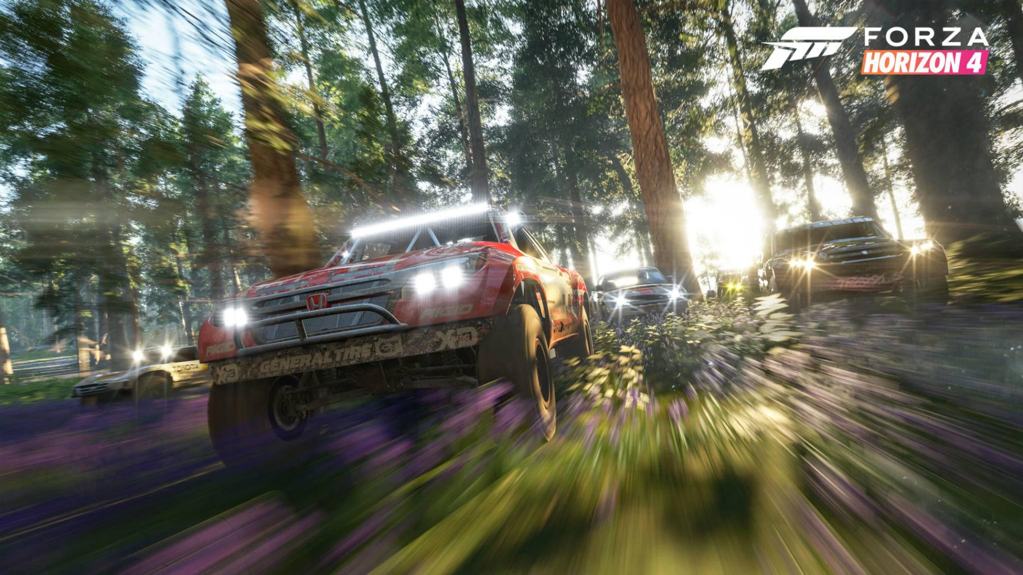 """""""Forza Horizon 4"""": Eine große Liste an Fahrzeugen ist bereits online aufgetaucht."""
