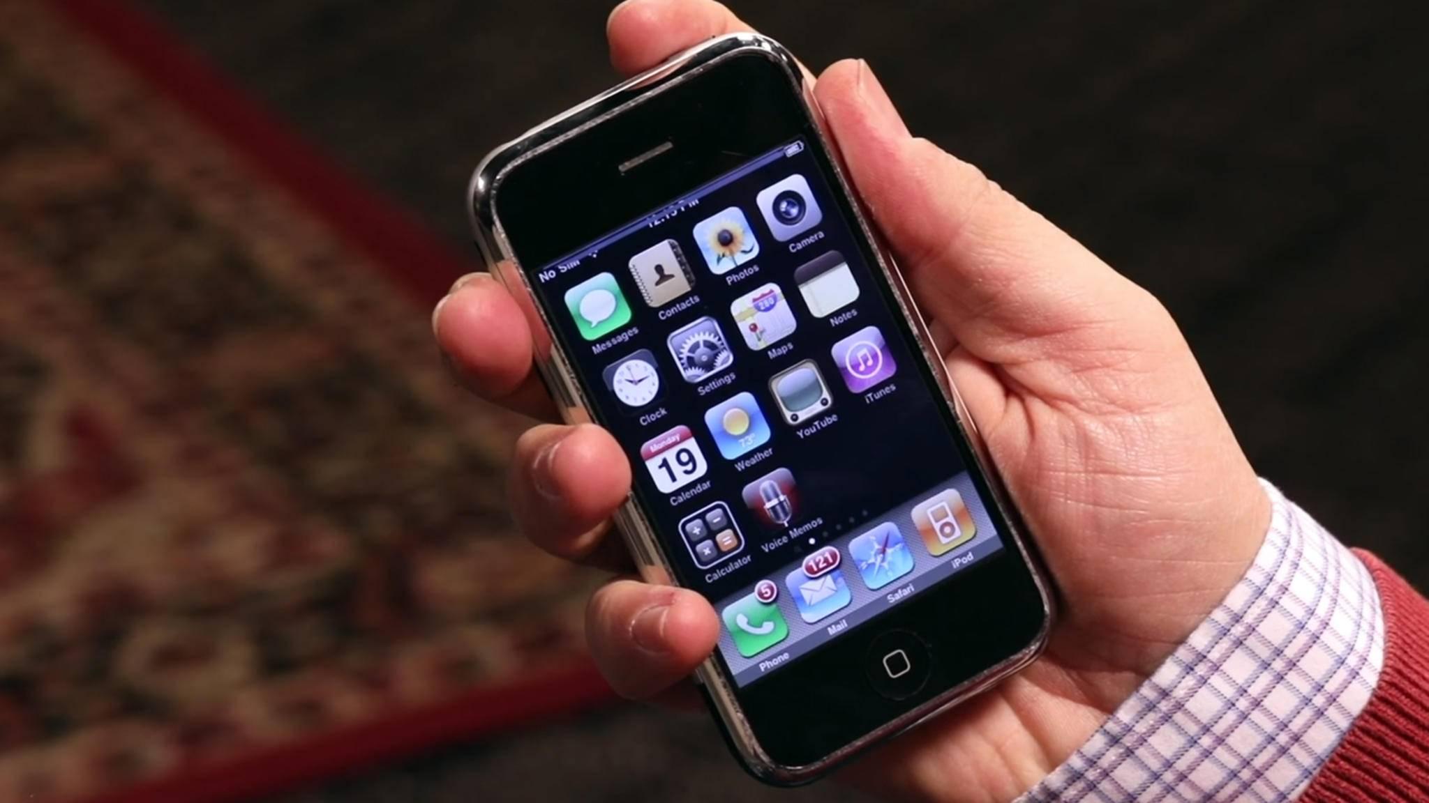Das erste iPhone – ein Meilenstein der Technik. Das hätte bei dem Prototypen wohl niemand erwartet.