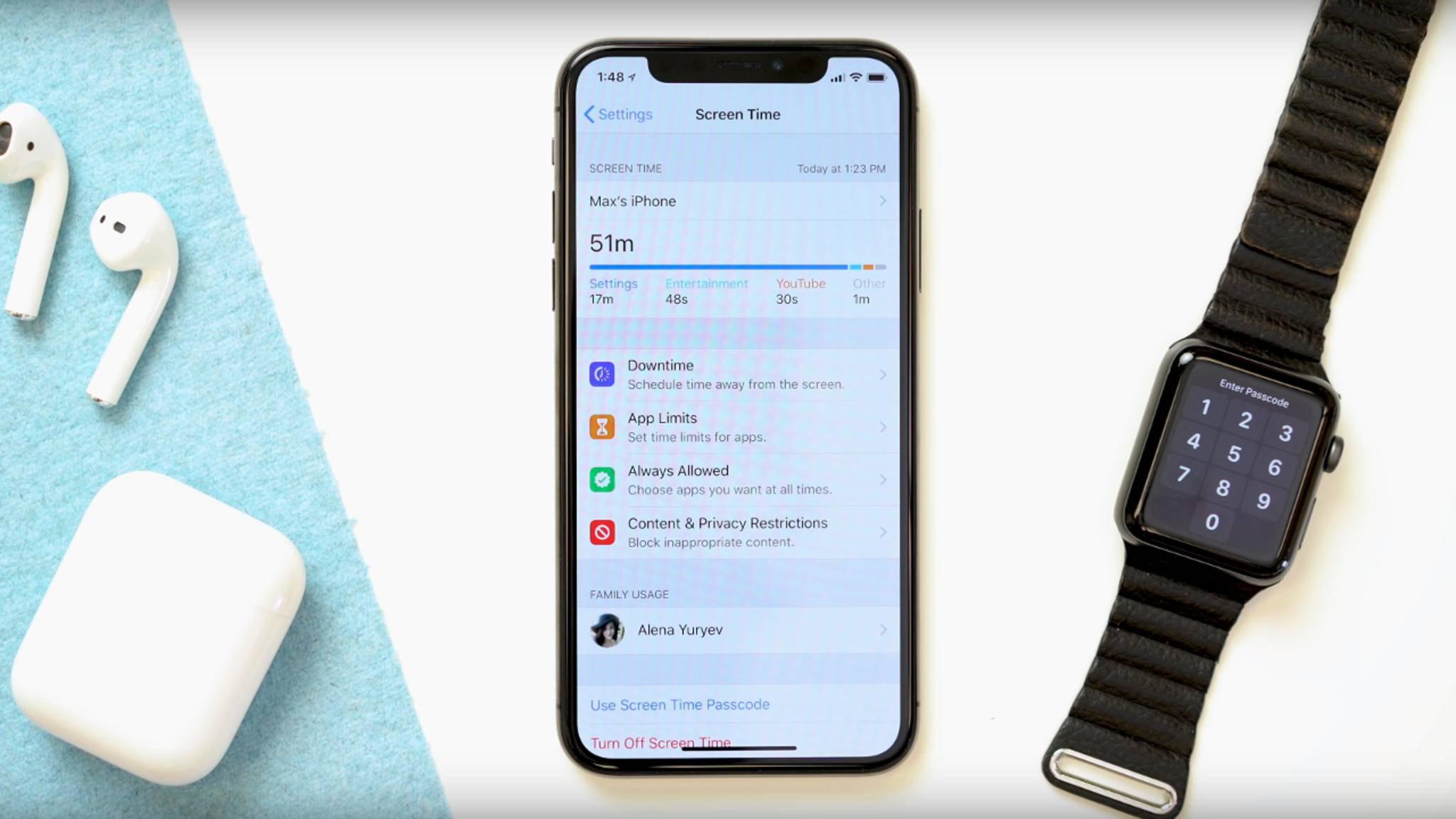 Mit Screen Time kann die eigene iPhone-Nutzungszeit begrenzt werden.
