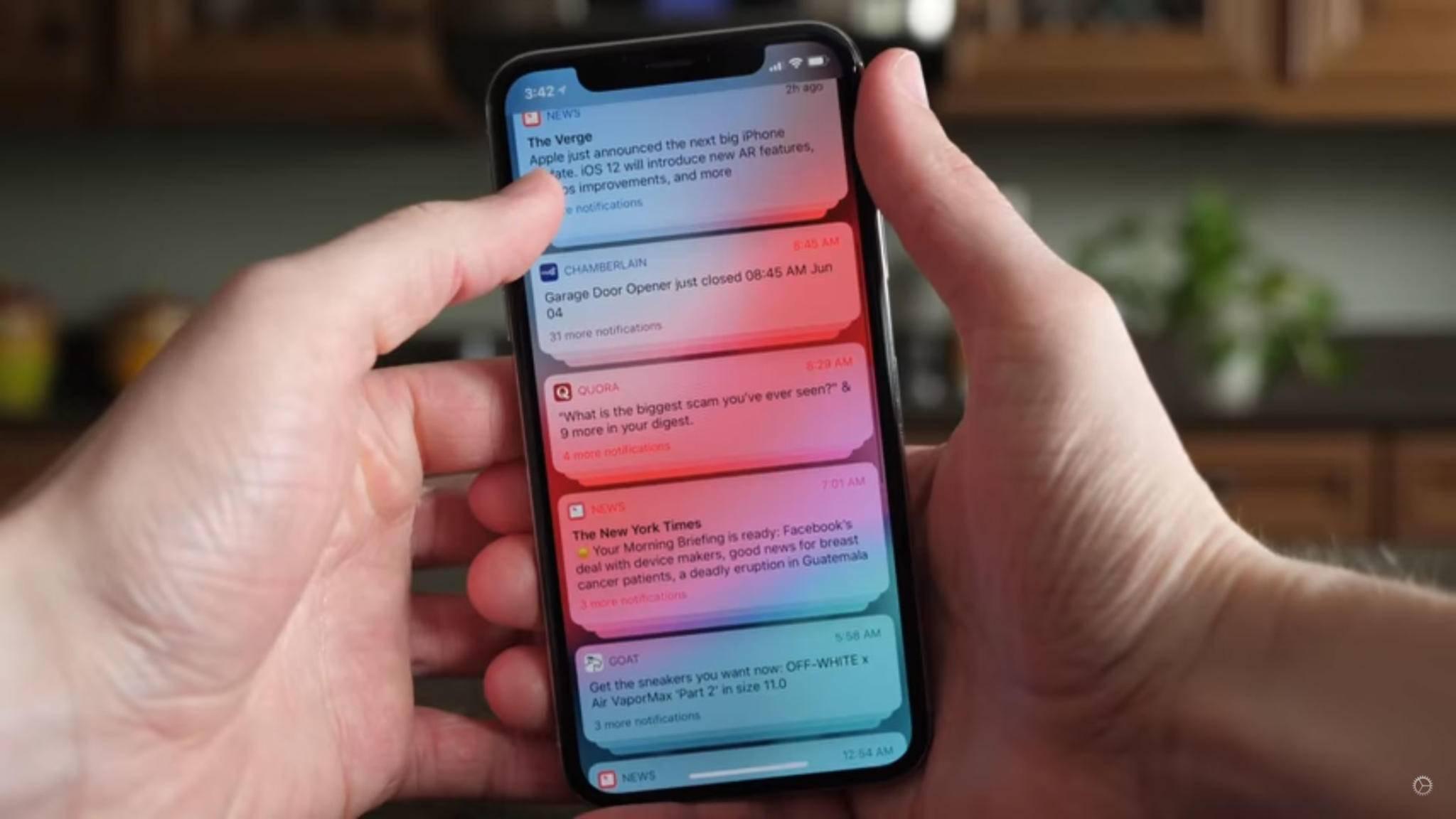 Die iPhone-Push-Benachrichtigungen lassen sich meist einfach reparieren.
