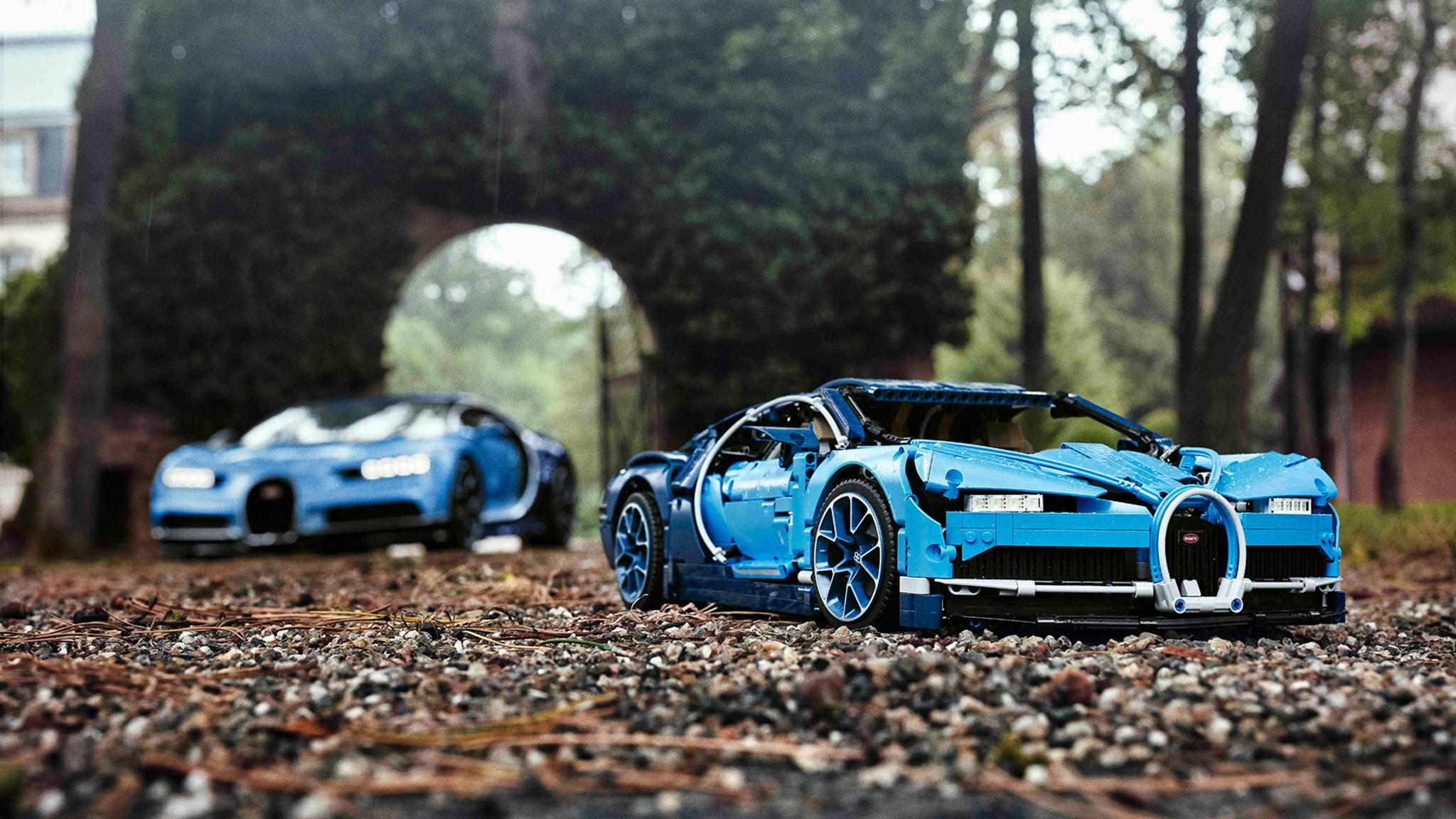 Unglaublich Detailverliebt: Der Bugatti Chiron besteht aus 3599 Lego-Steinen.