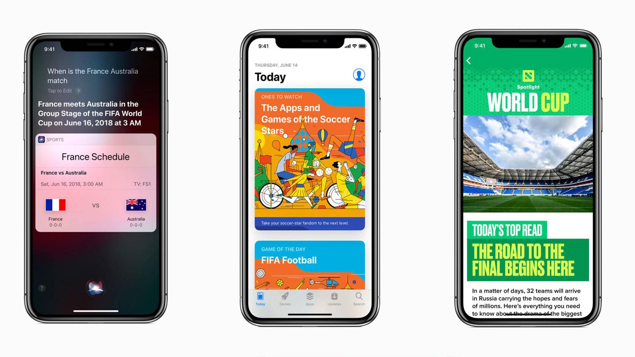 Siri und viele andere Apple-Apps stehen ganz im Zeichen der WM 2018.