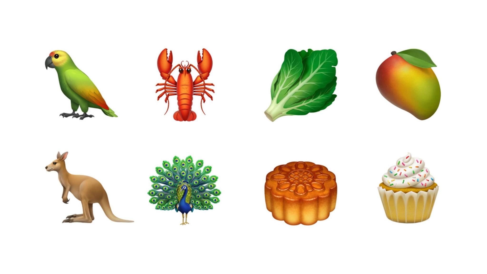Neue Tiere und Food-Emojis werden iOS noch in diesem Jahr erobern.