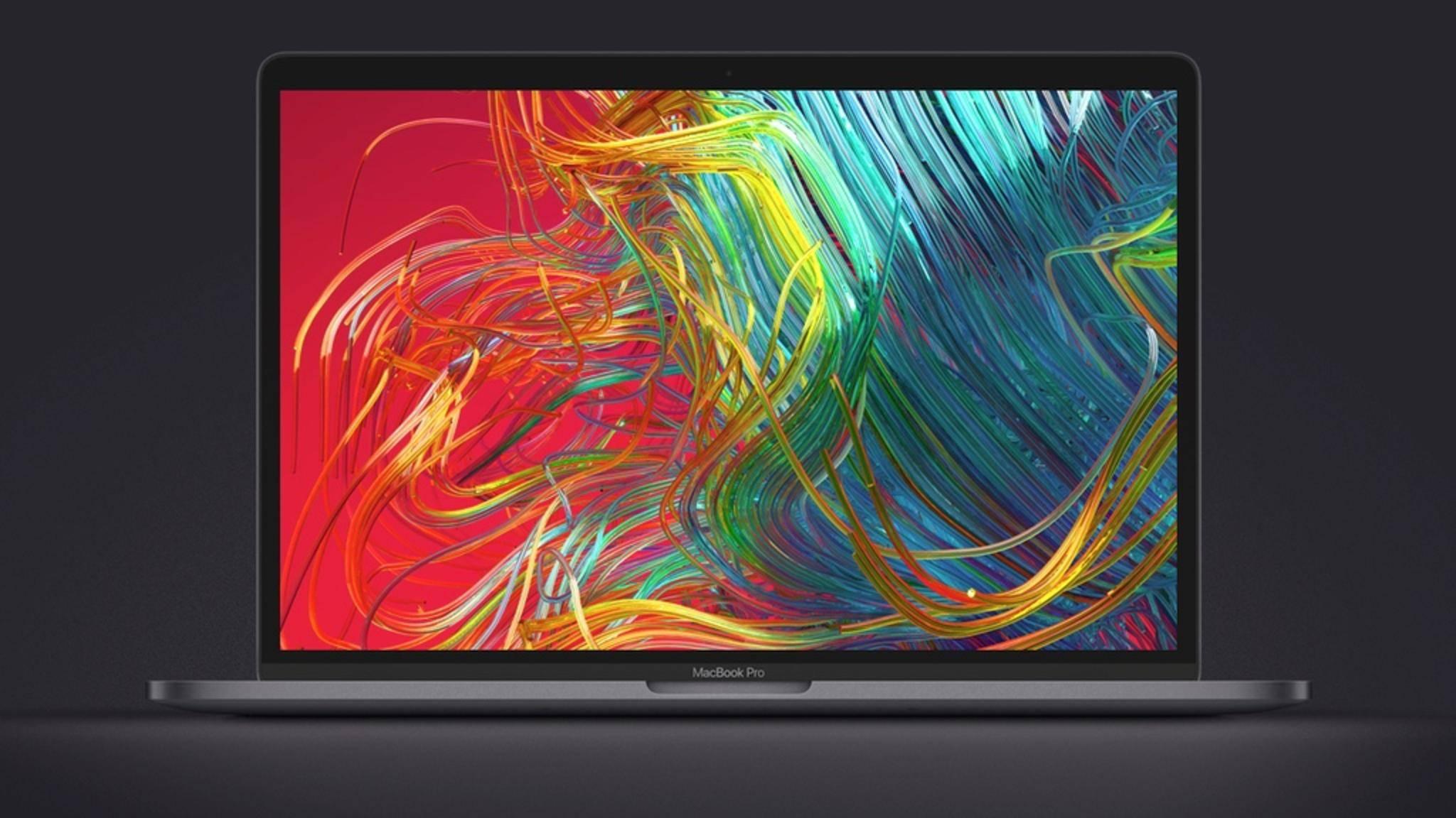 Beim MacBook Pro kann die Bildschirmaufnahme auch über die Touch bar gesteuert werden.