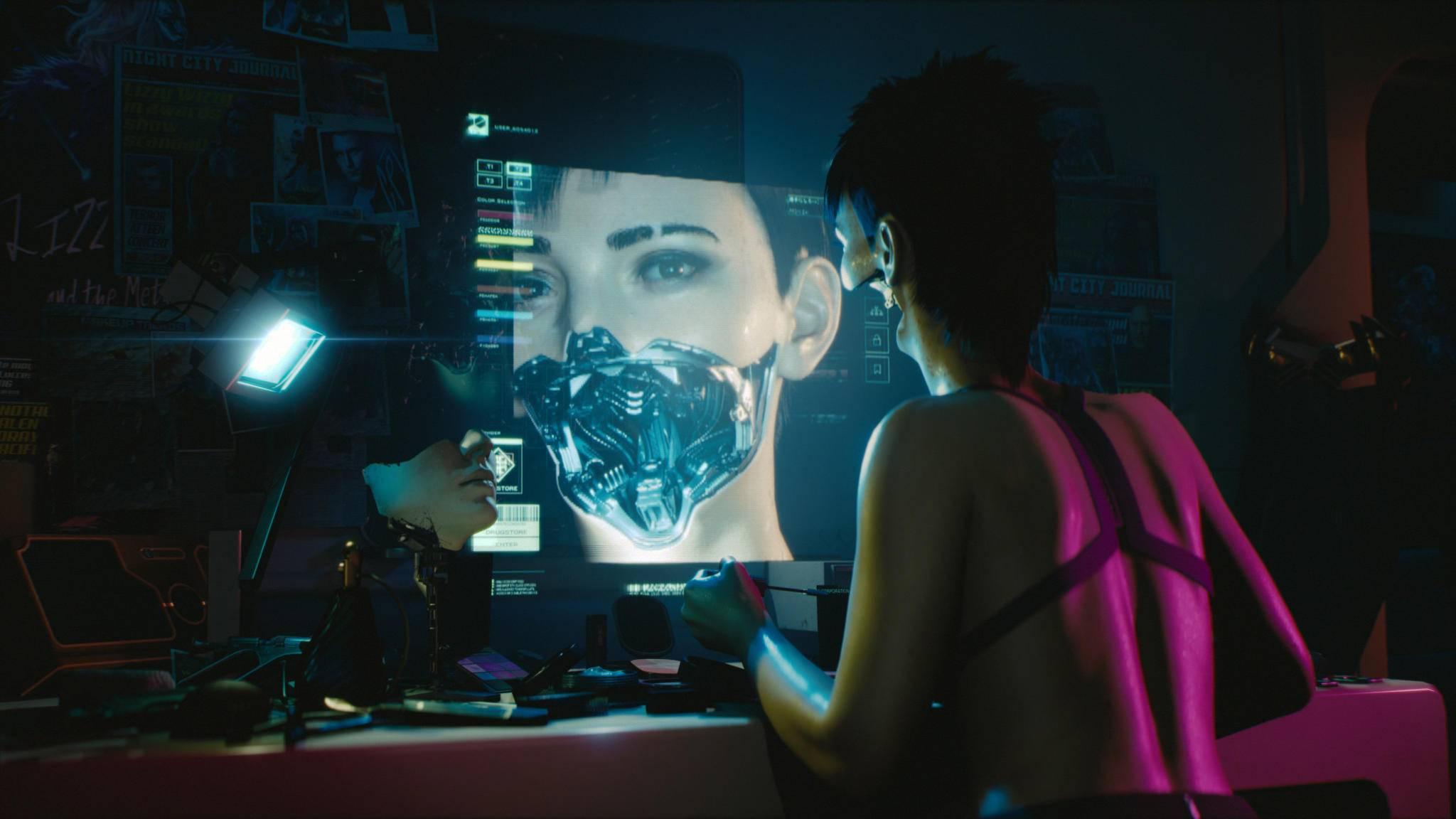 """Da haben die Entwickler """"Cyberpunk 2077"""" wohl zu kleine Speicherchips eingepflanzt."""