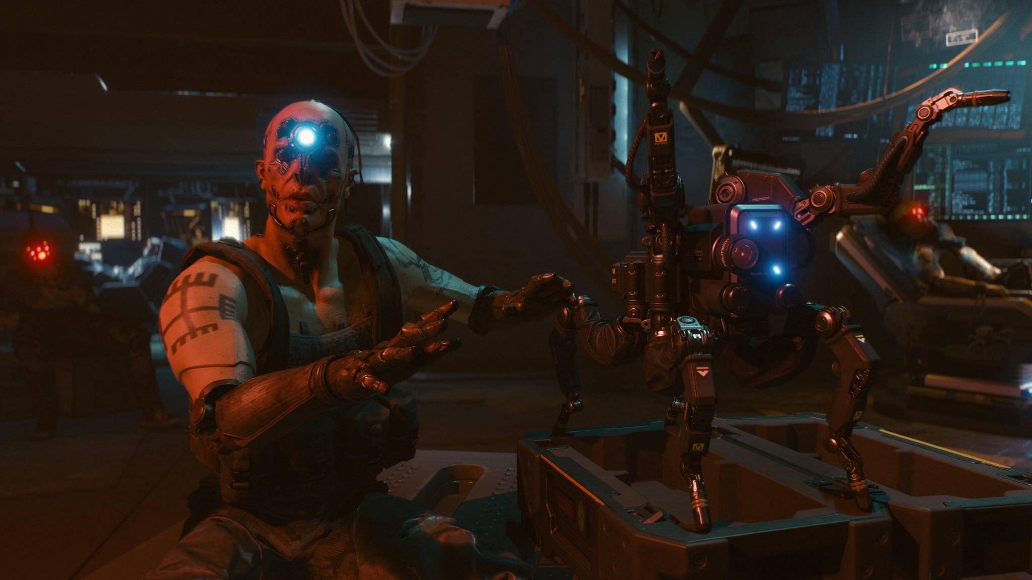 """Nur gucken, nicht anfassen: Auf der Gamescom wird """"Cyberpunk 2077"""" nur hinter den Kulissen gezeigt."""