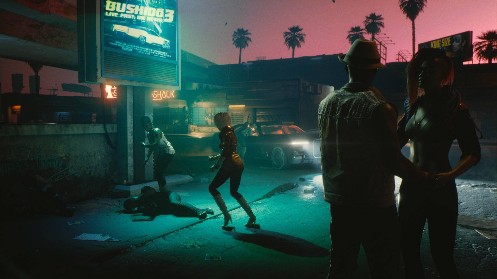 """Night City ist etwas kleiner als die Welt von """"The Witcher 3"""", dafür aber viel lebhafter."""