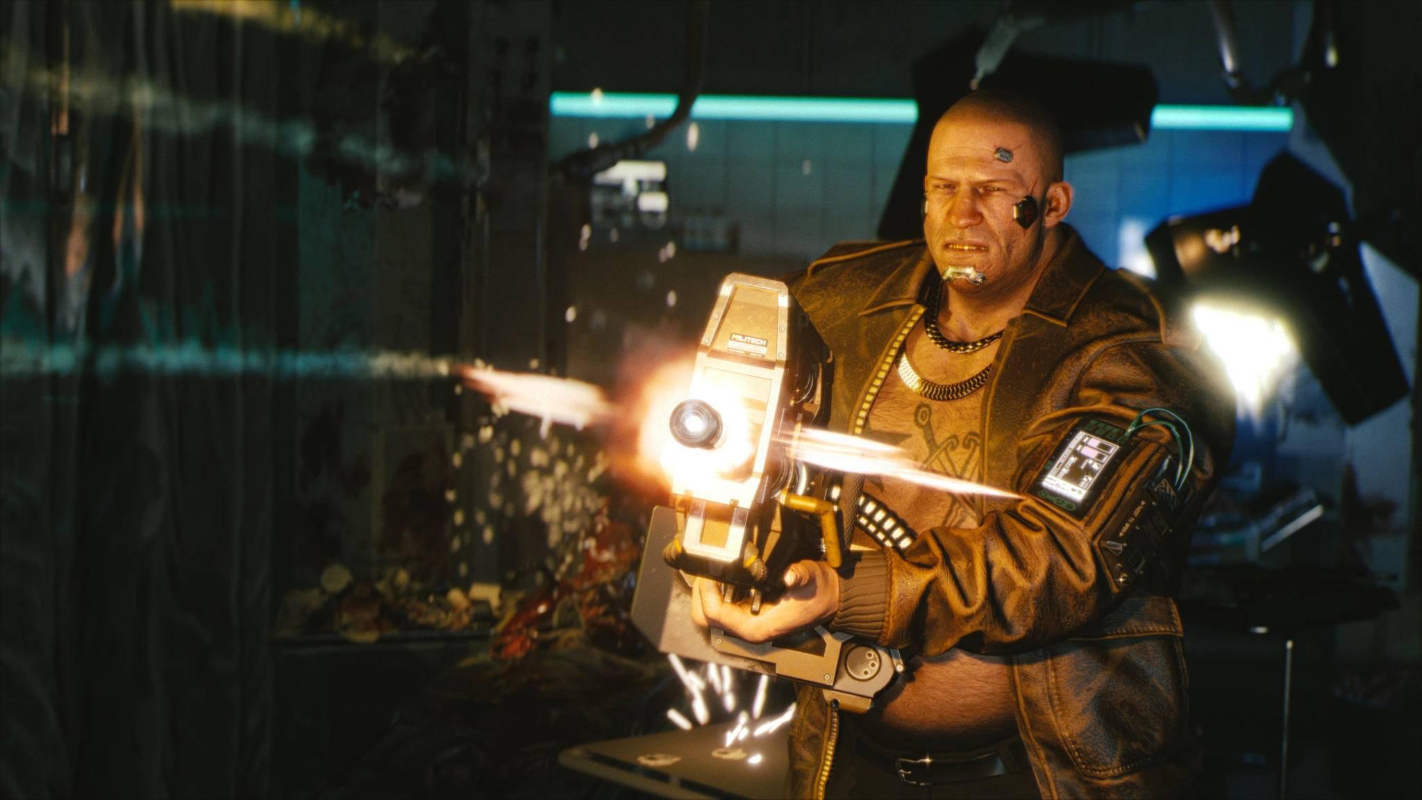"""Der häufige Einsatz einer Waffe in """"Cyberpunk 2077"""" verbessert den Umgang mit ihr."""