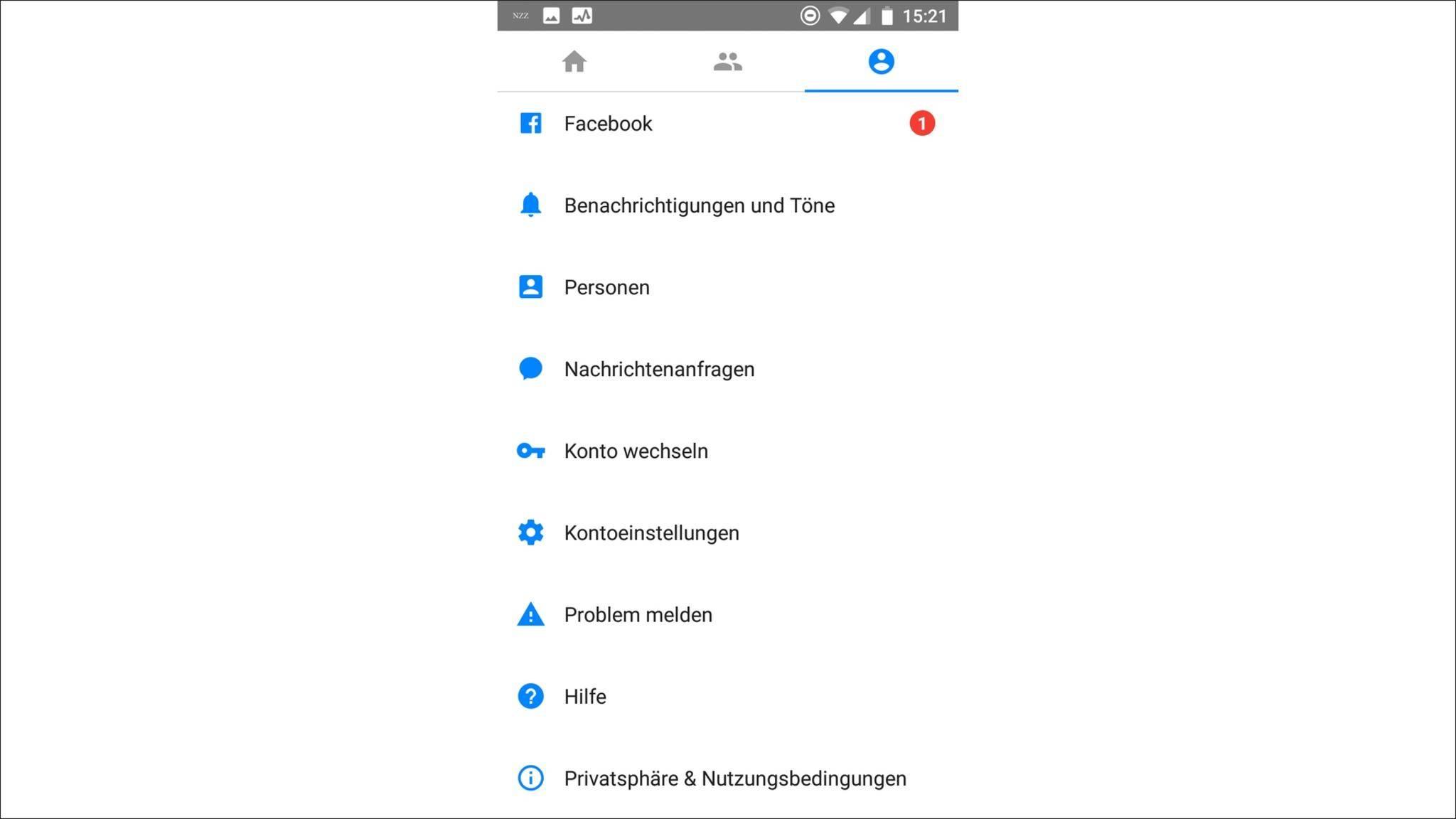 Alle wichtigen Features sind im Messenger enthalten.