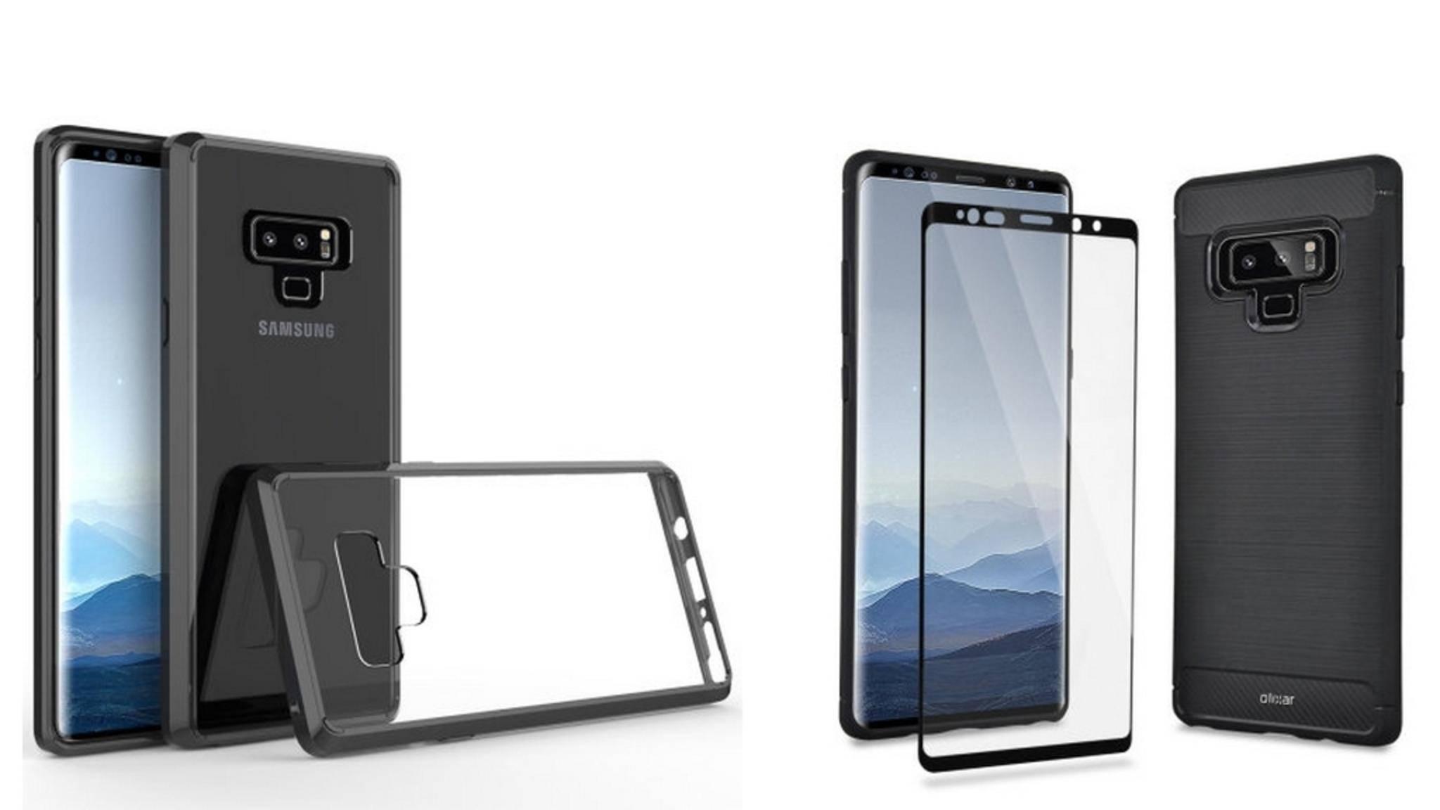 Diese Bilder eines Schutzhüllen-Herstellers zeigen das Galaxy Note 9.